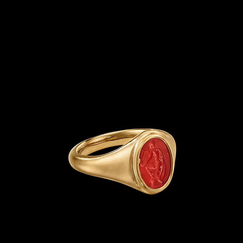 EY® SignatureIntaglio Ring in 22K Yellow Gold with