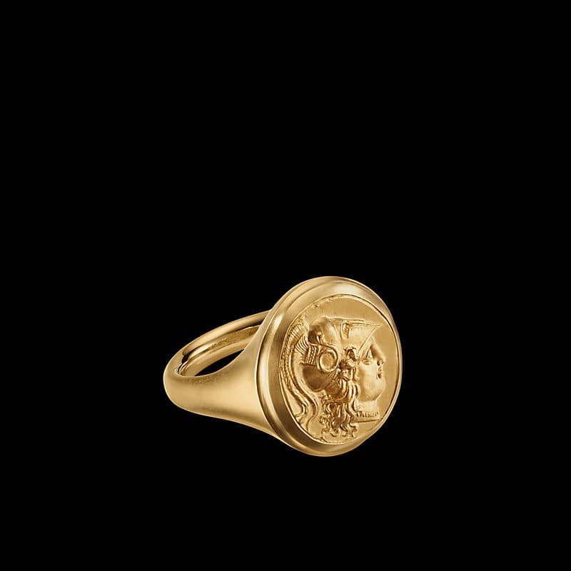 EY® SignatureCoin Signet Ring in 22K Yellow Gold