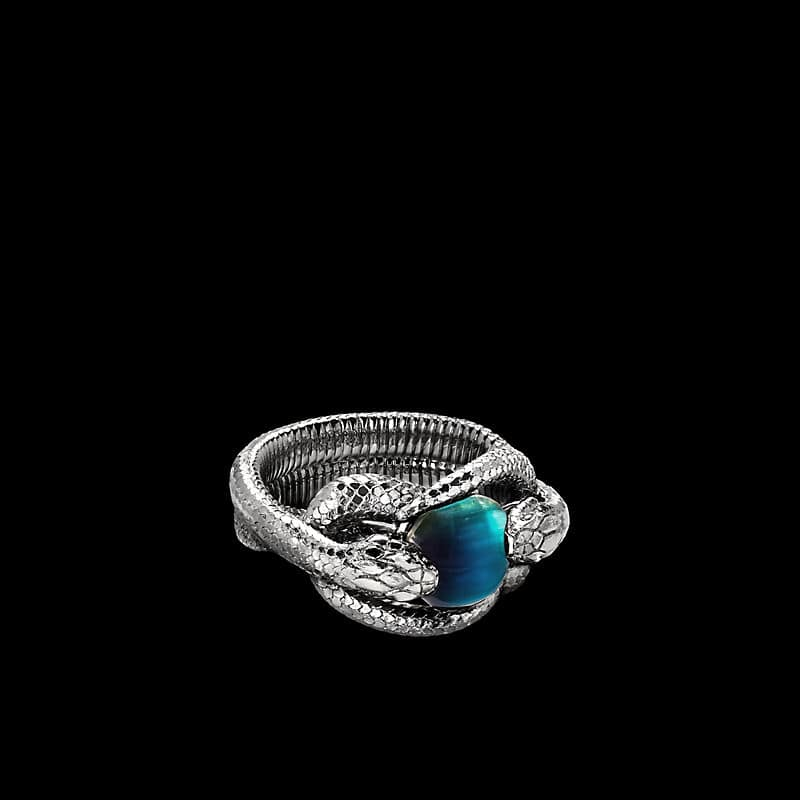 EY® Signature Double Snake Ring in Platinum with