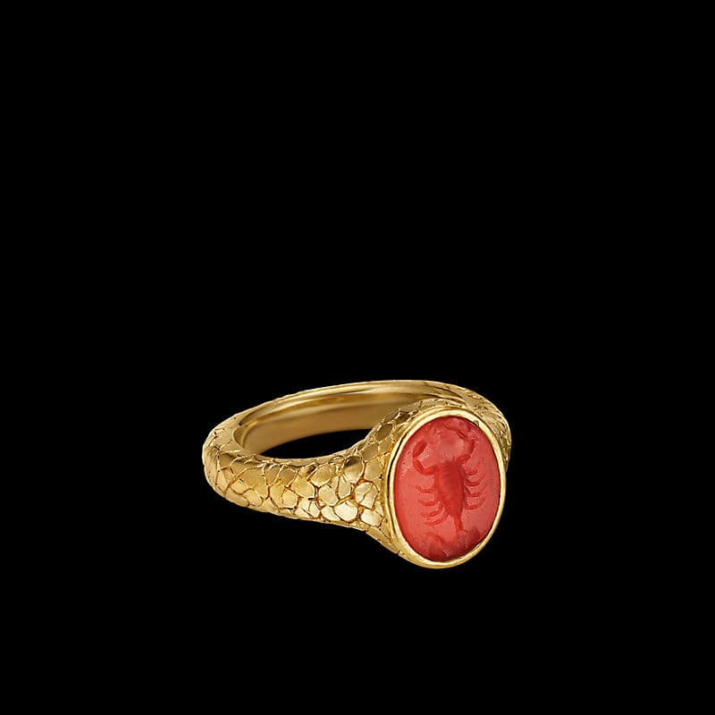 EY® Signature Scoprion Intaglio Ring in 22K Yellow