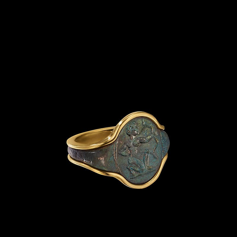 EY® SignatureArcher Signet Ringwith 22K Yellow Gold