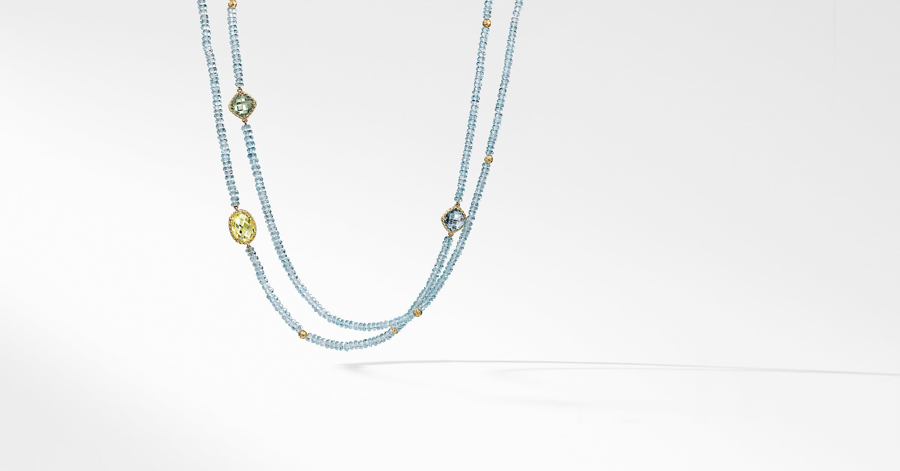 DY Signature Bead Necklace in 18K Gold