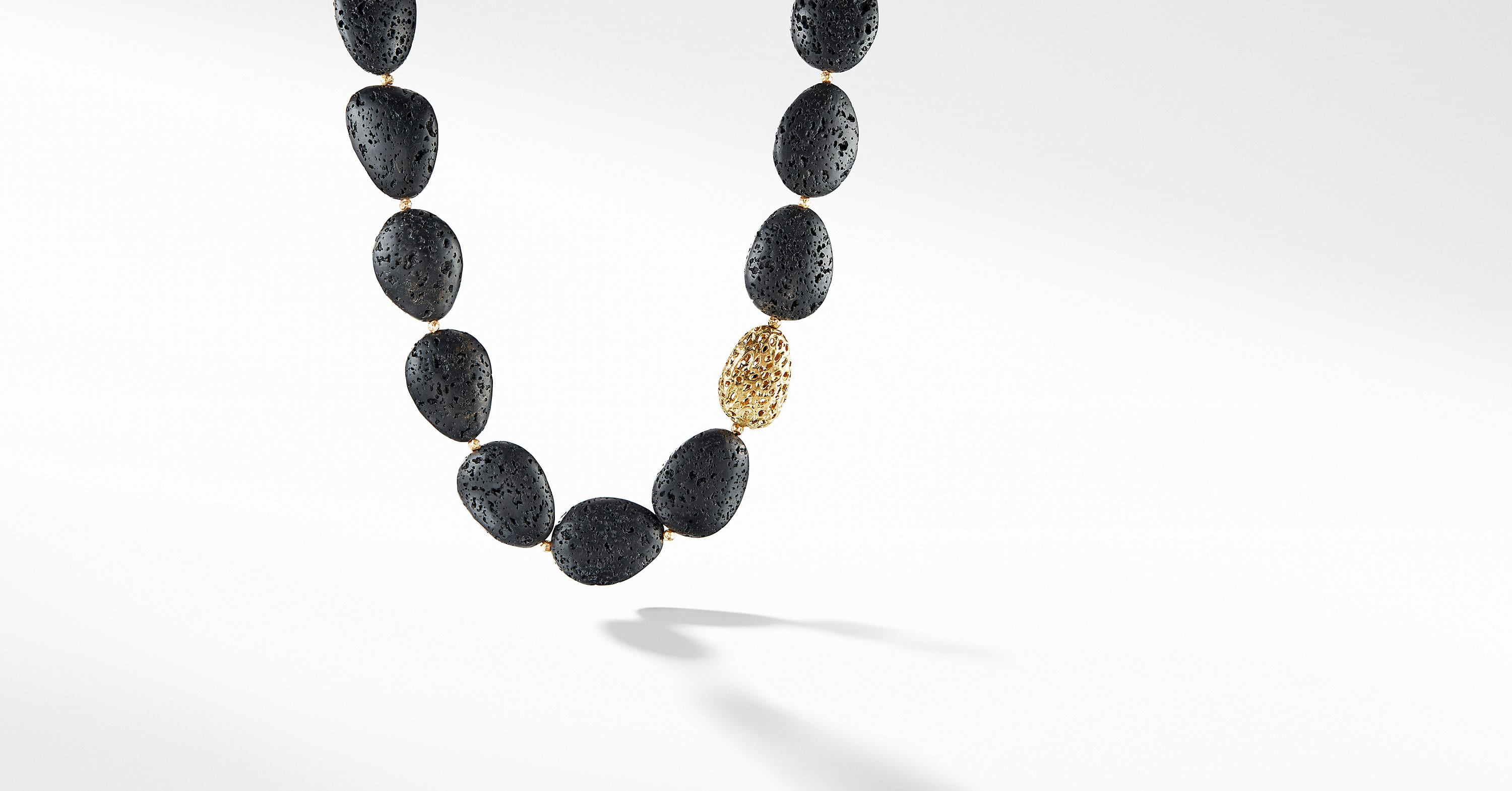 DY Signature Bead Necklace with 18K Gold