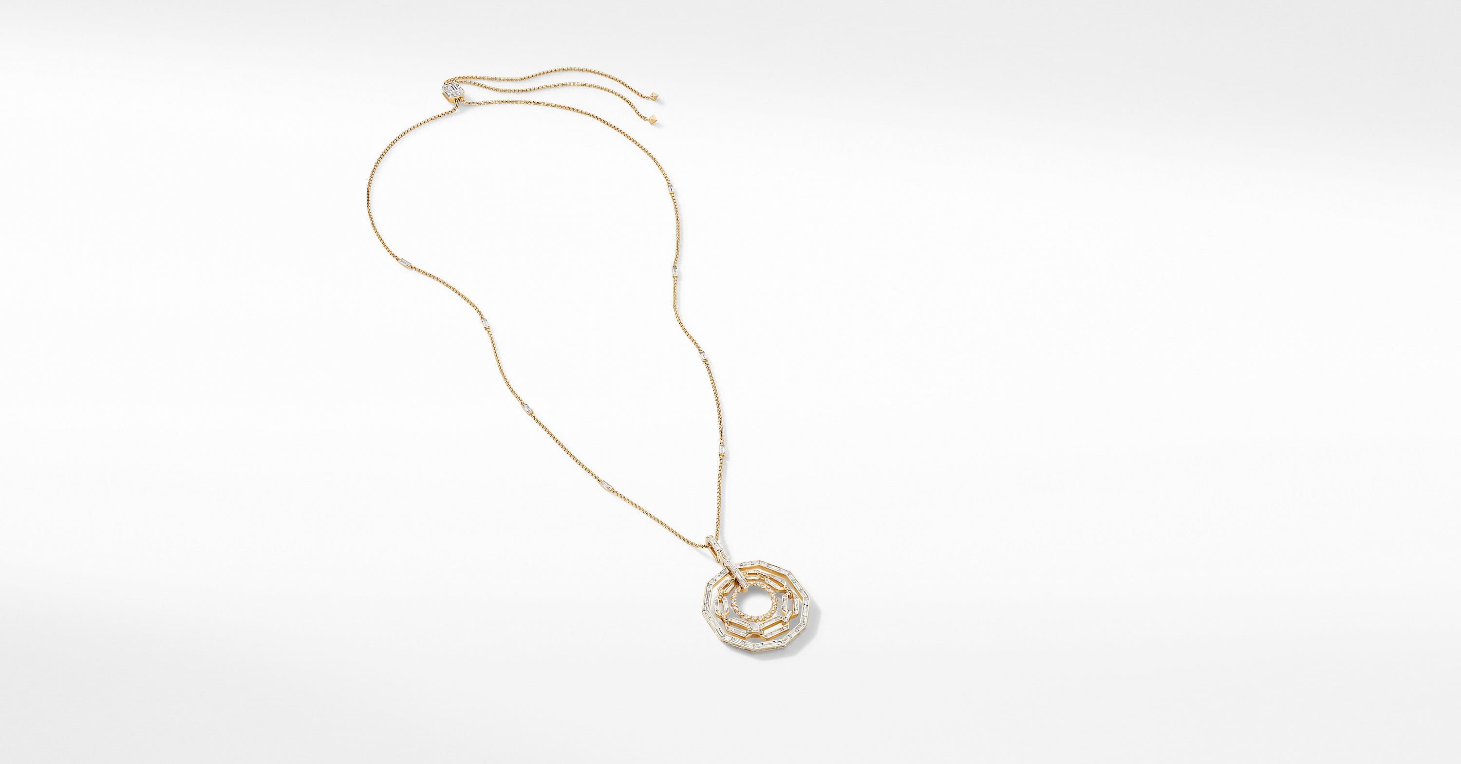 Stax Pendant Necklace in Yellow Gold with Diamonds