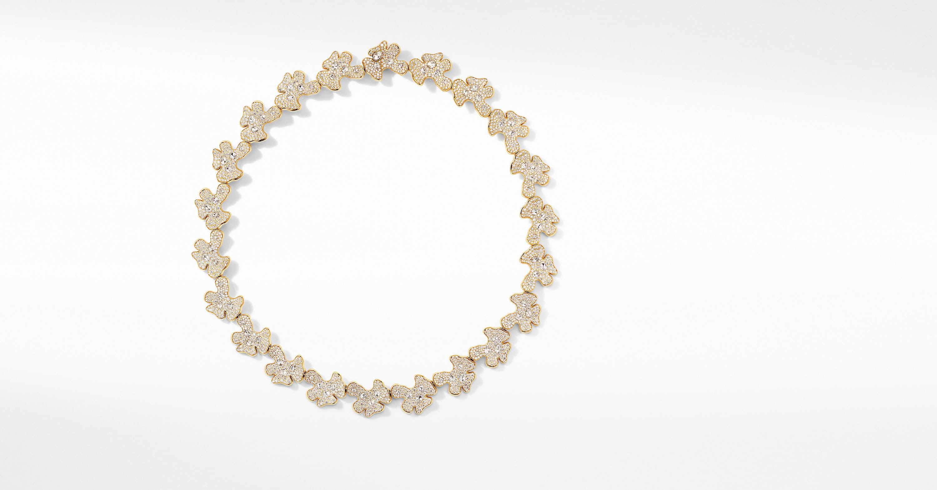 Day Petals Necklace in Yellow Gold with Diamonds
