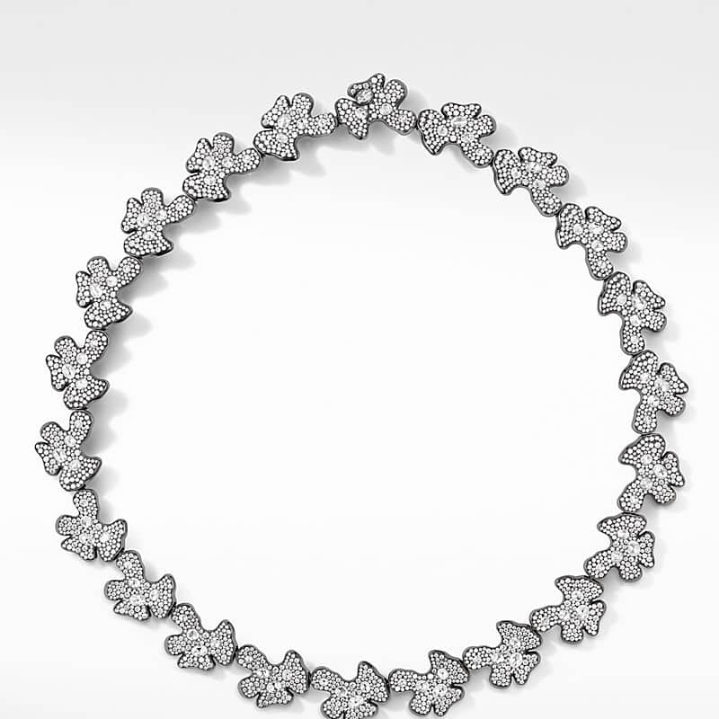 Night Petals Necklace in White Gold with Diamonds