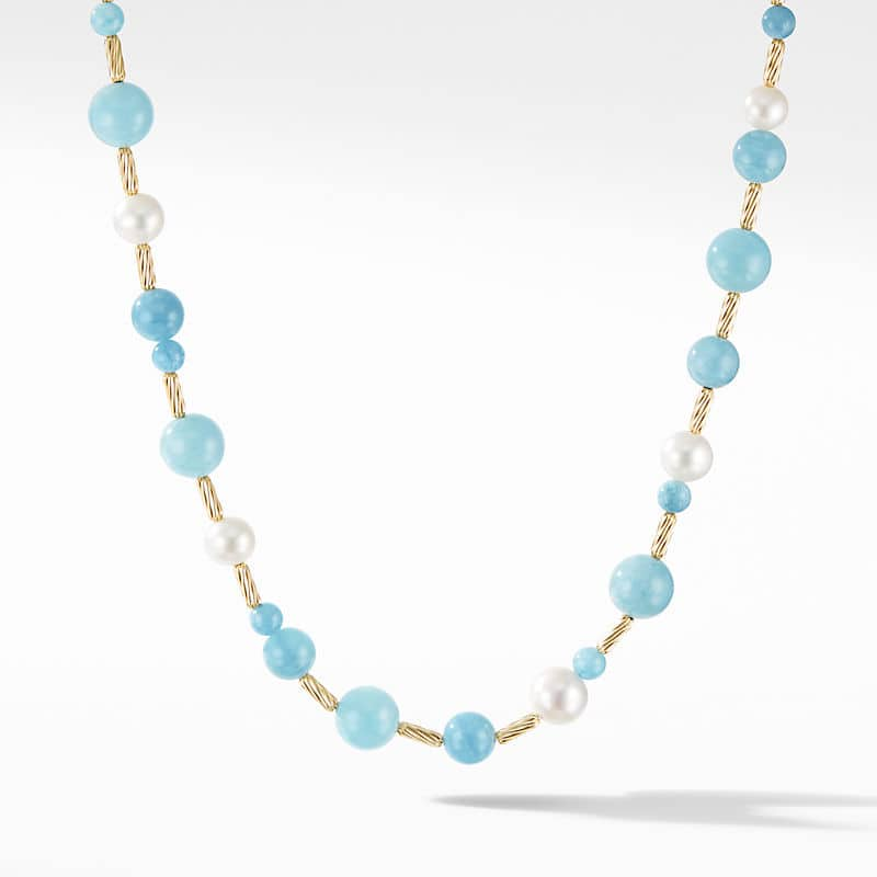 DY Signature Stick Necklace with 18K Yellow Gold
