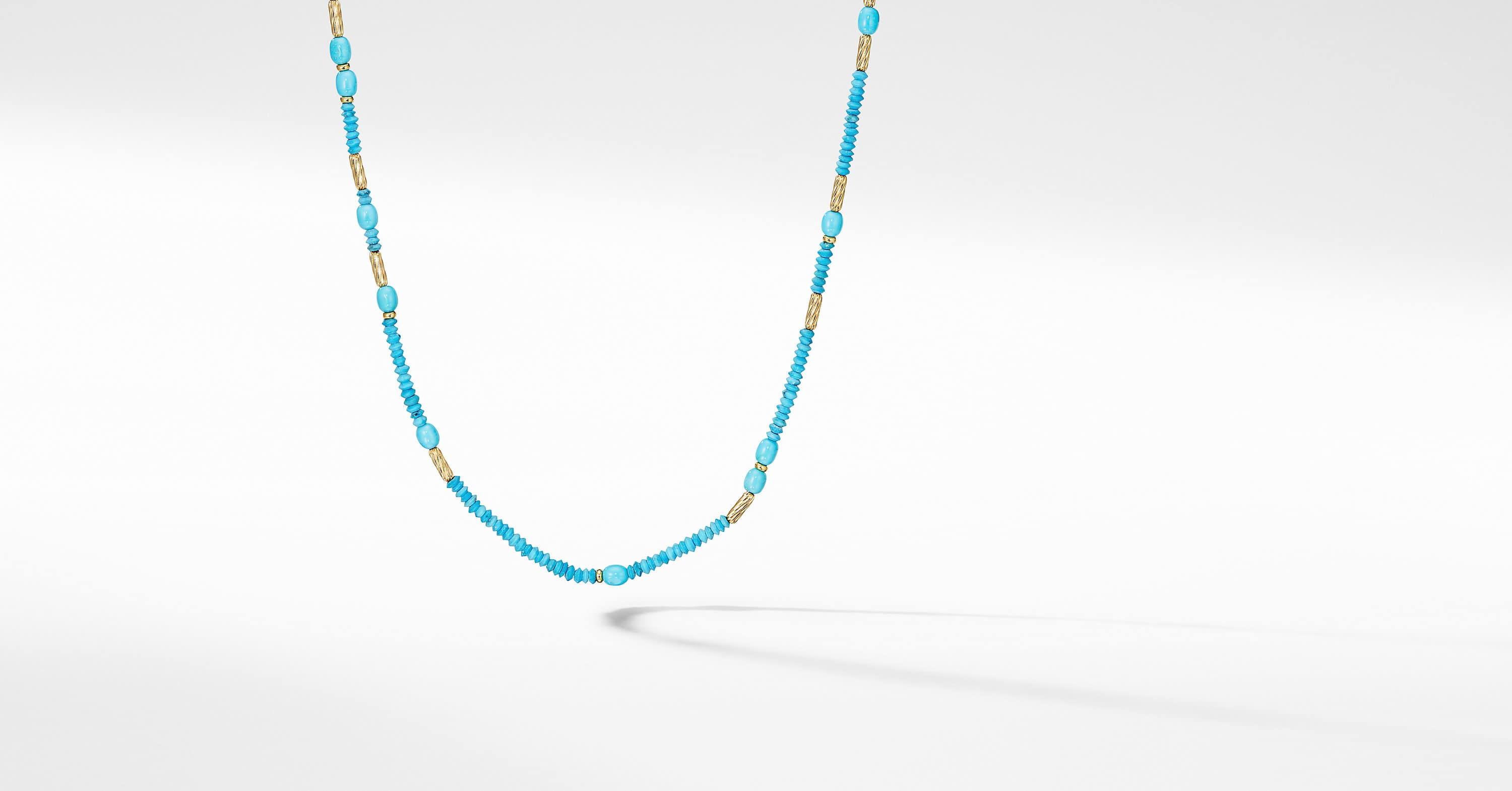 Long Tweejoux Necklace with Serpentine and 18K Yellow Gold