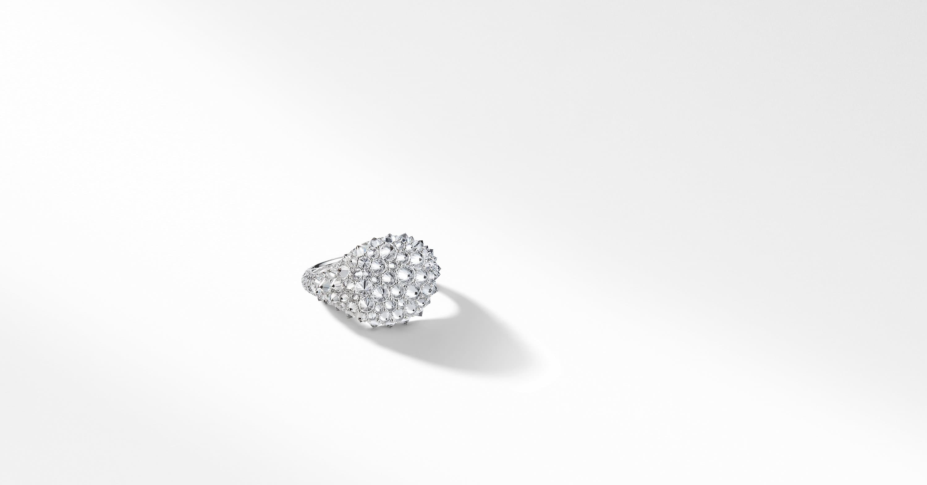 DY Signature Pinky Ring in 18K White Gold