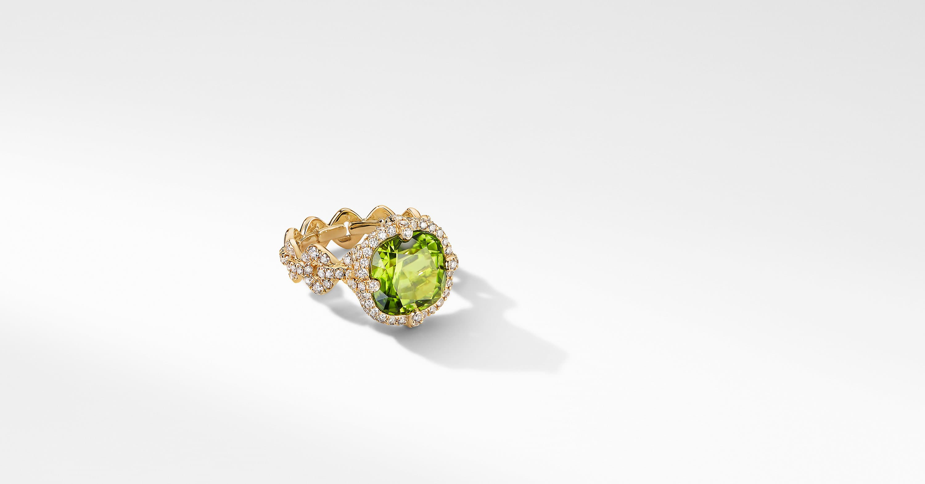 Gems Ring in Yellow Gold with Diamonds