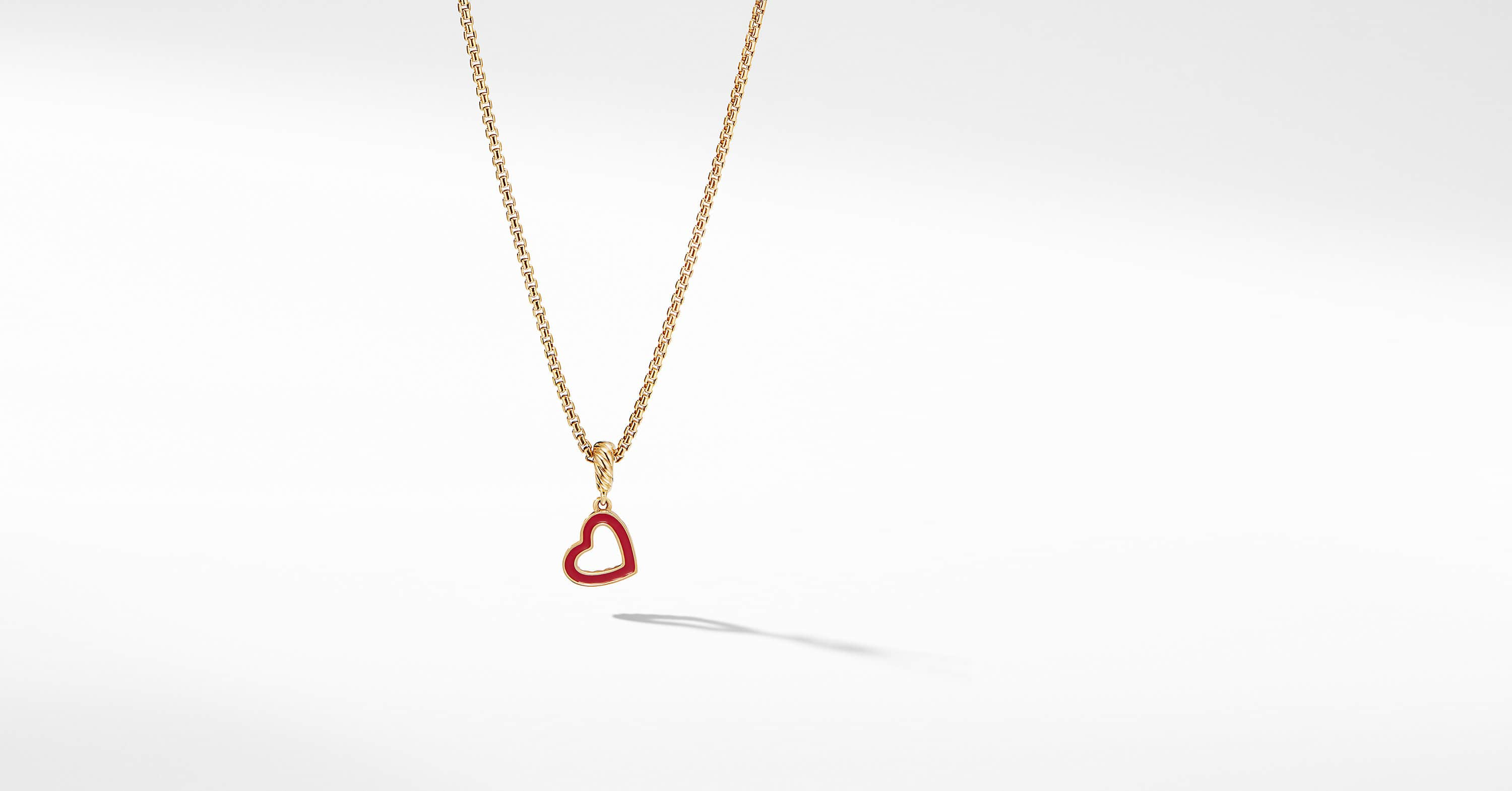 Cable Heart Pendant in 18K Yellow Gold