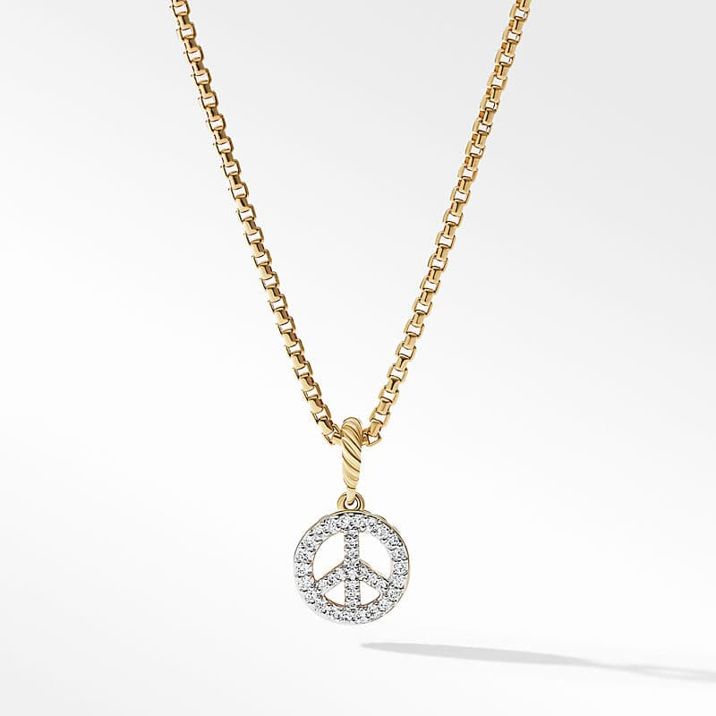 Peace Sign Amulet in 18K Yellow Gold with