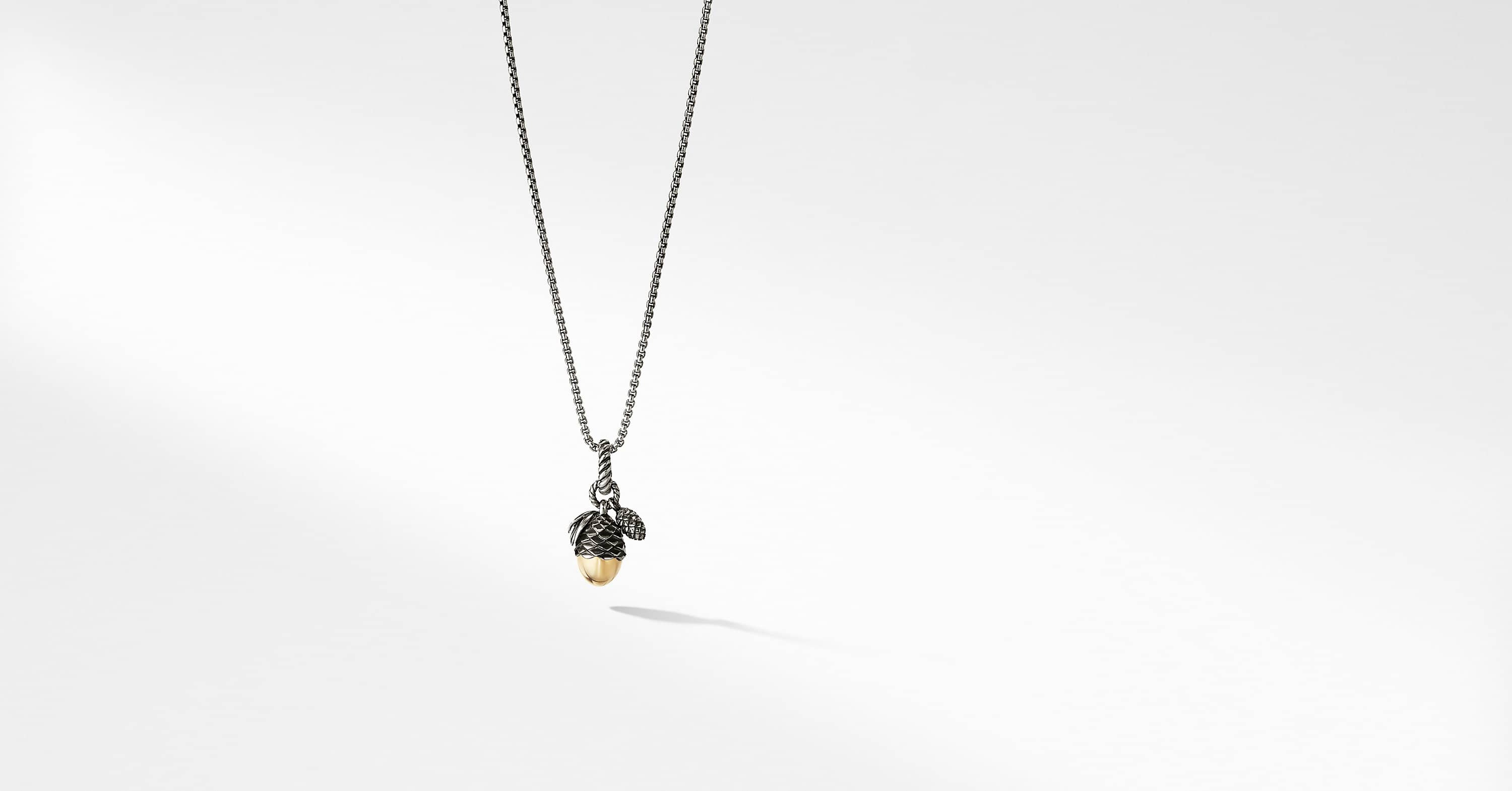 Pine Cone Amulet with 18K Yellow Gold