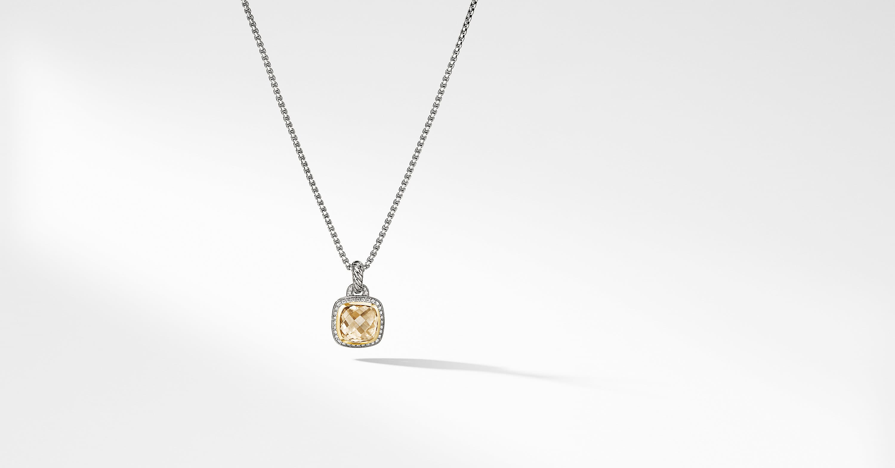 Albion Pendant with Diamonds and 18K Gold, 11mm