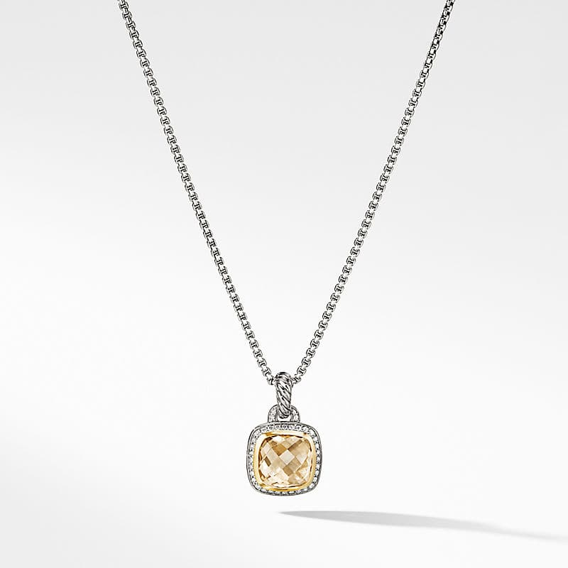 Albion® Pendant with Champagne Citrine, Diamonds and 18K