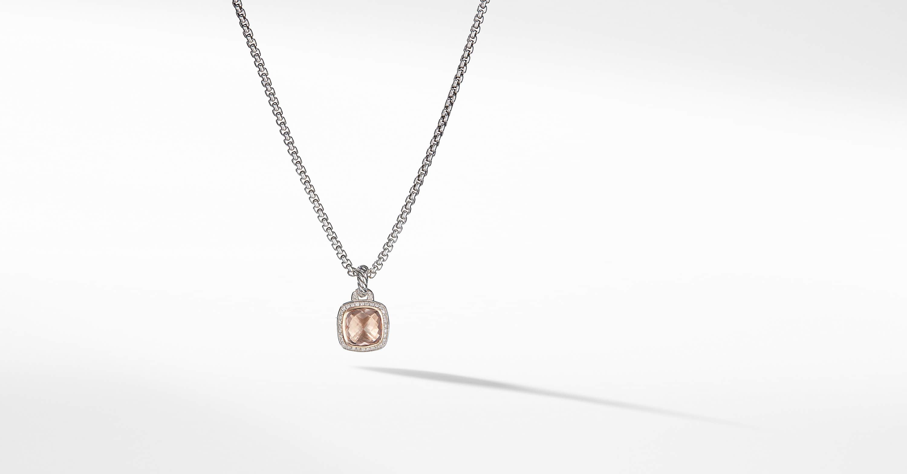 Albion Pendant with Diamonds and 18K Rose Gold, 11mm