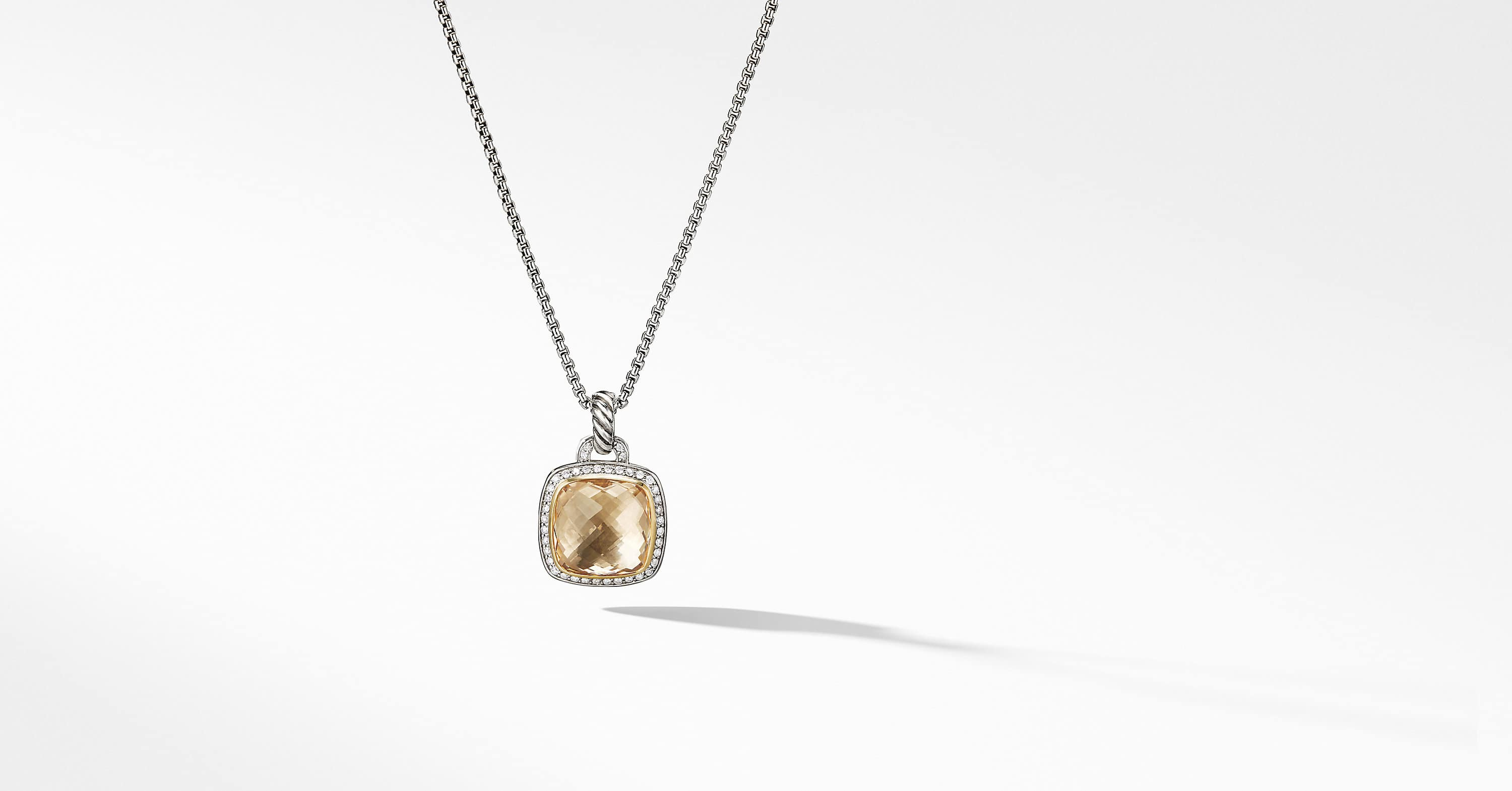 Albion Pendant with 18K Gold and Diamonds, 14mm