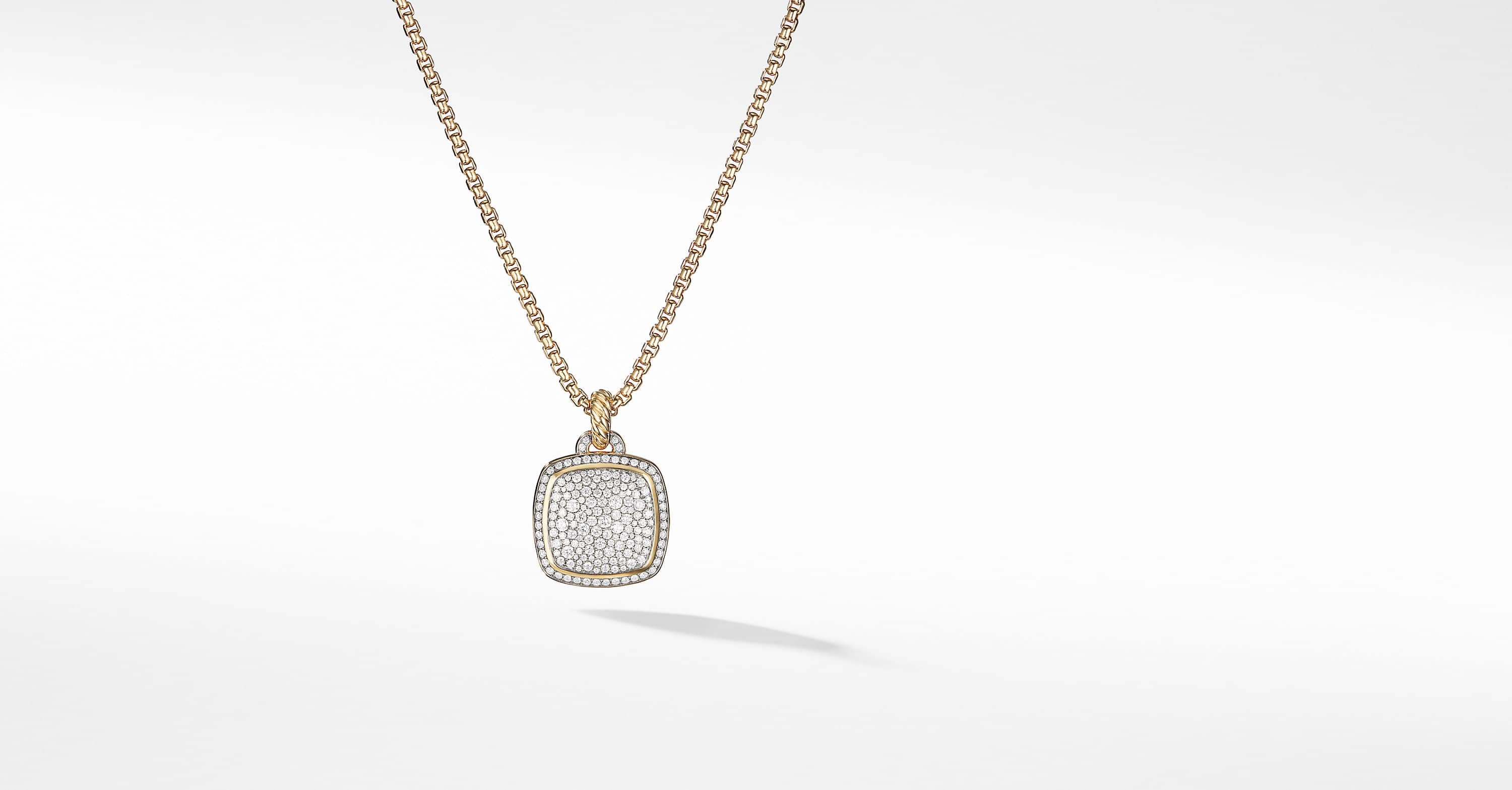 Albion Pendant with Diamonds in 18K Gold, 17mm