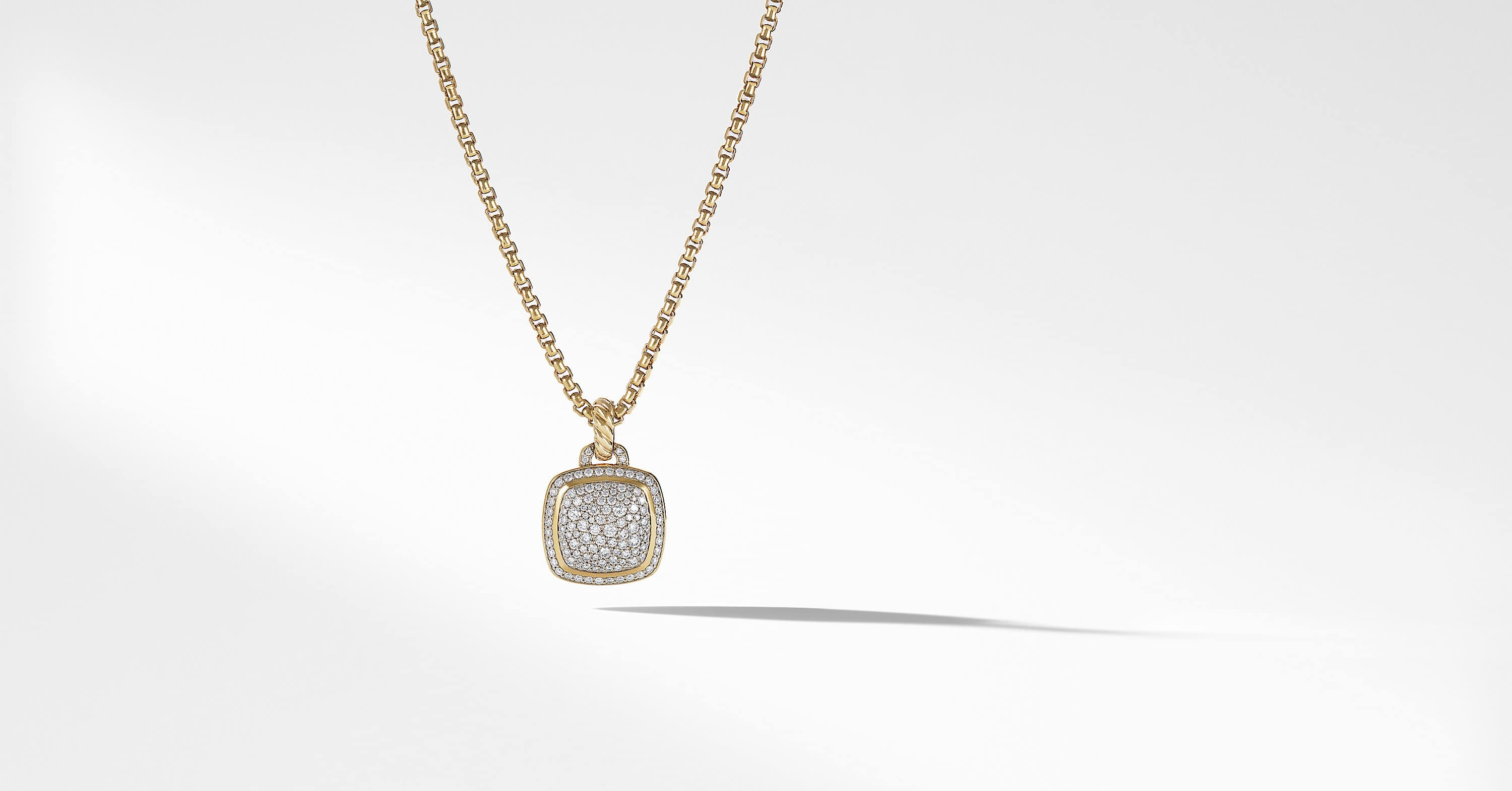 Albion Pendant with Diamonds in 18K Gold, 14mm