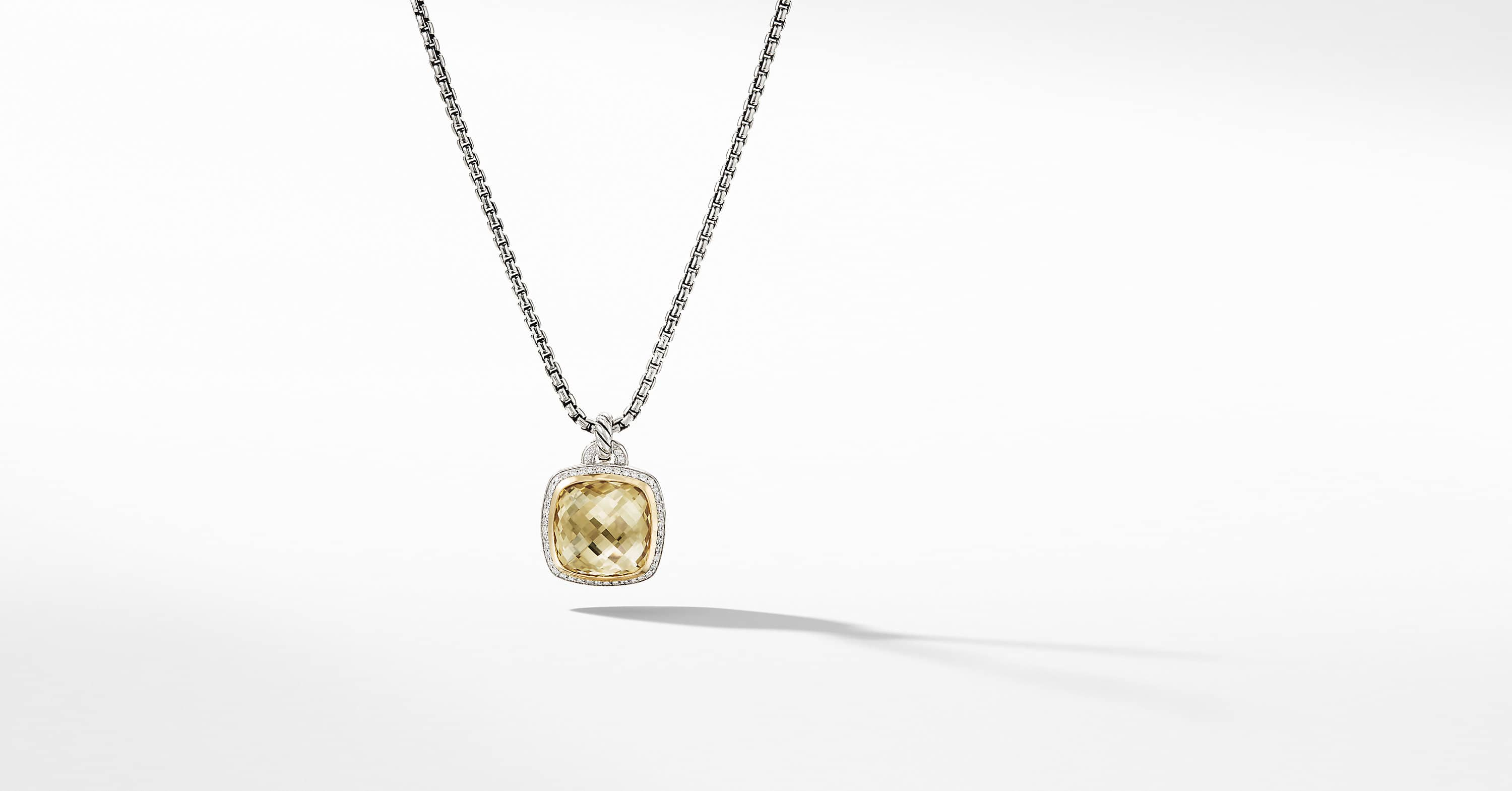 Albion Pendant with Diamonds and 18K Gold, 17mm