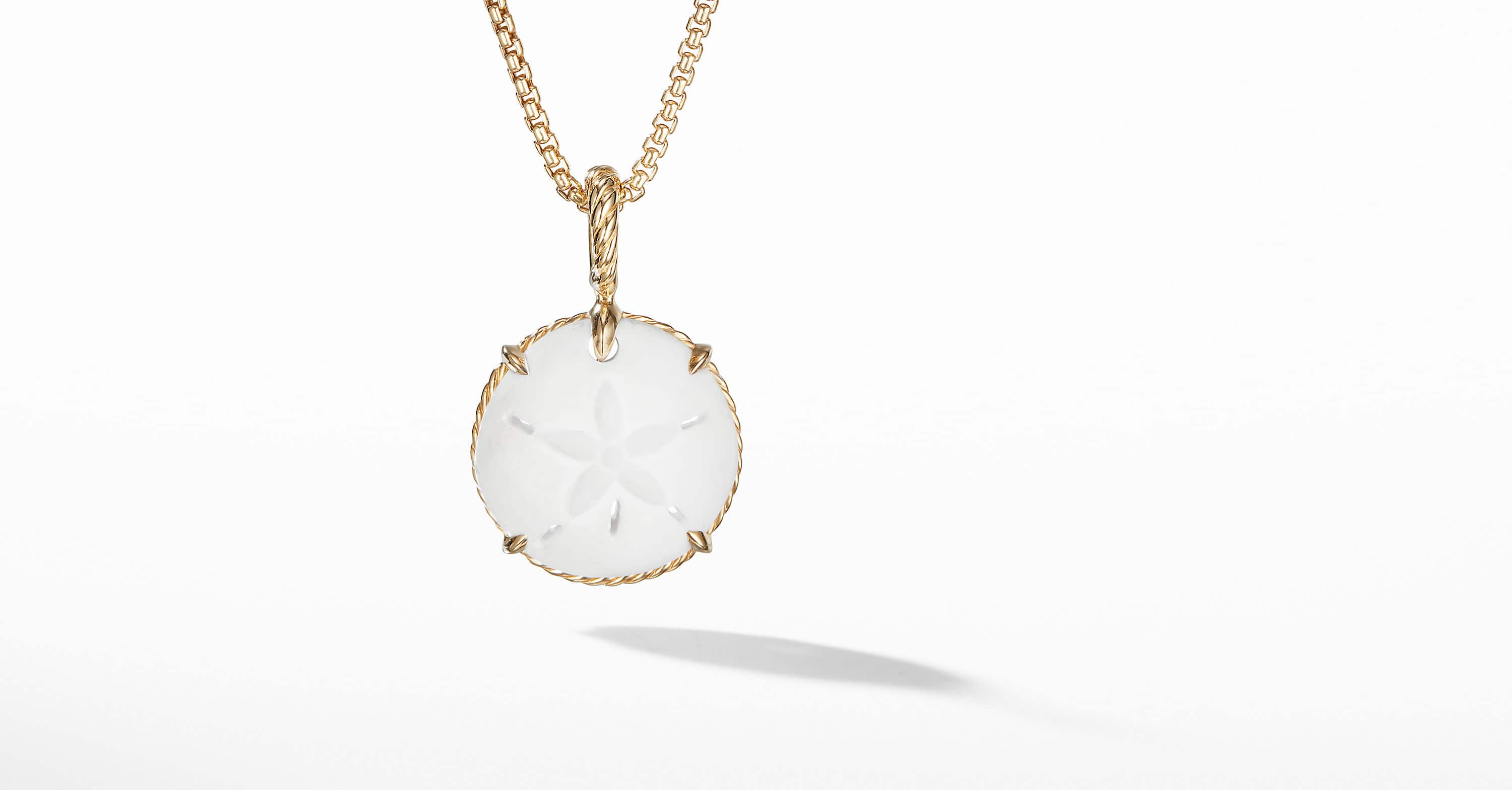 Sand Dollar Amulet with 18k Gold