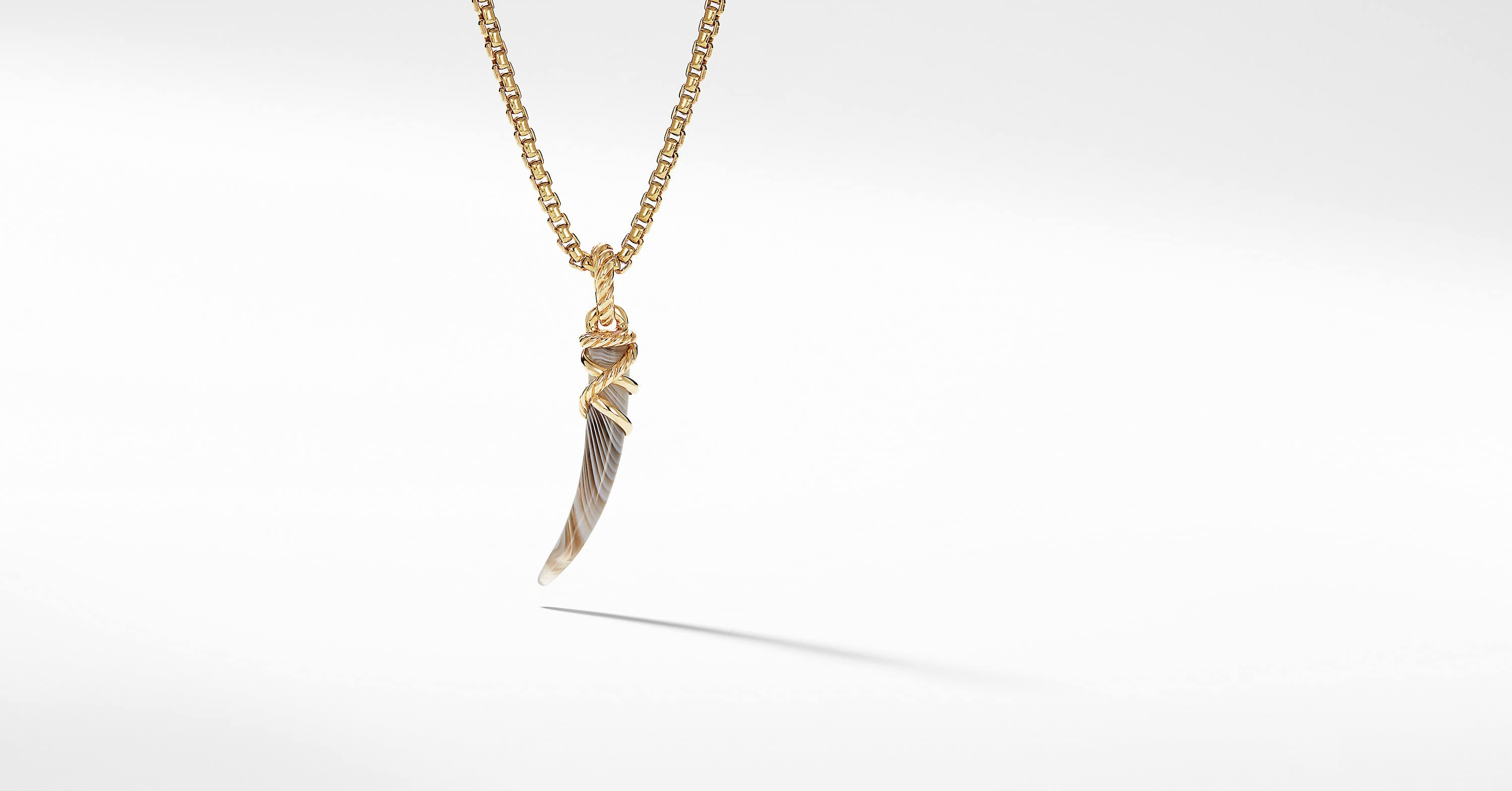 Tusk Amulet with 18K Gold