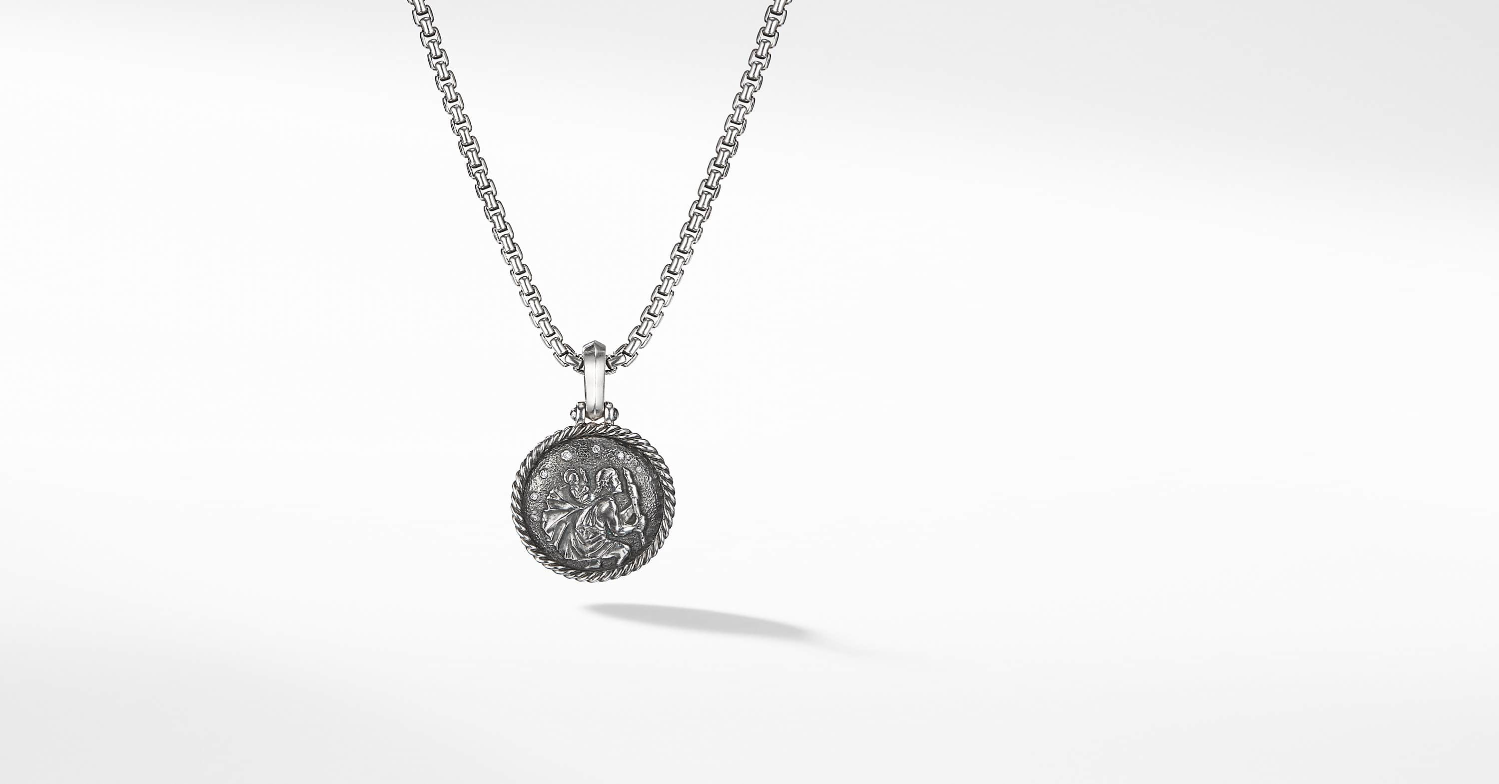 Cable Collectibles St Christopher Amulet with Diamonds