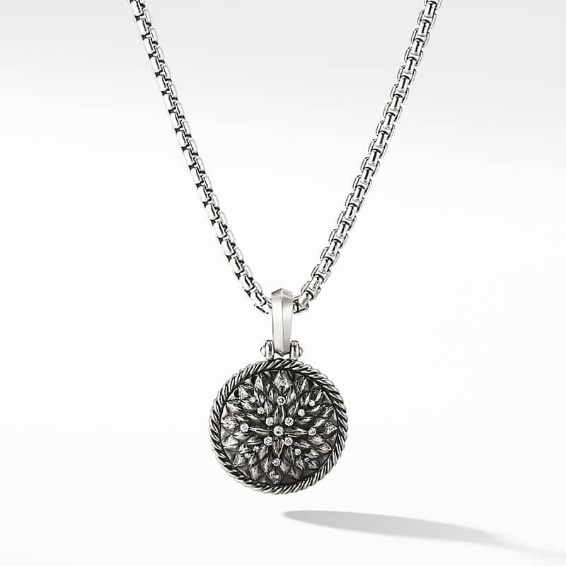 Cable Collectibles Lotus Amulet with Diamonds