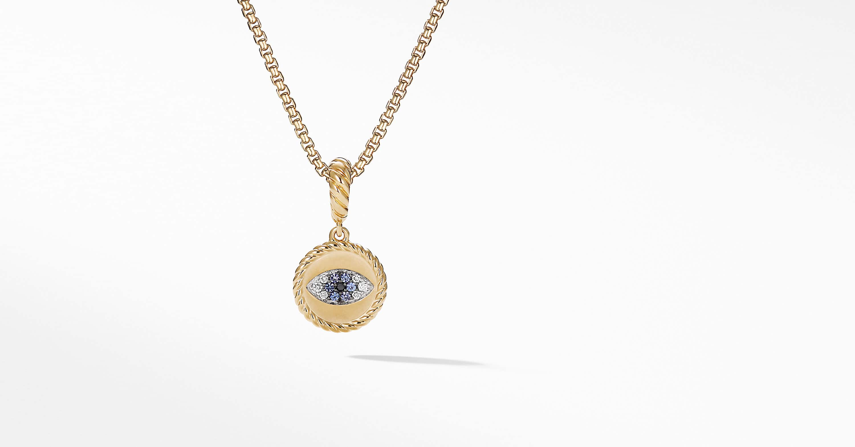 Cable Collectibles Evil Eye Amulet in 18k Gold with Diamonds