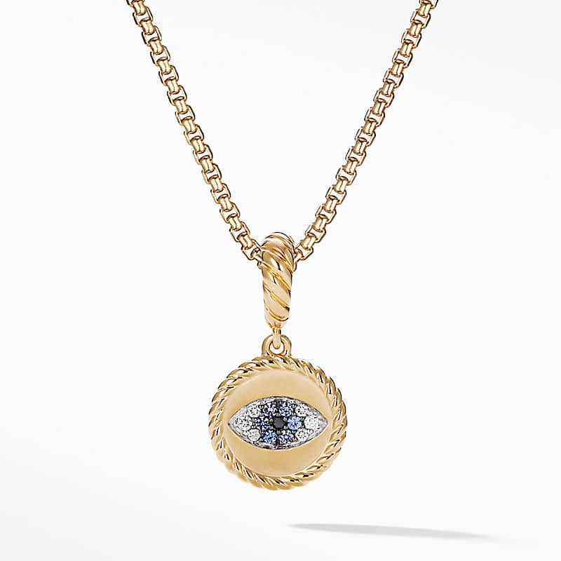 Evil Eye Amulet in 18K Yellow Gold with