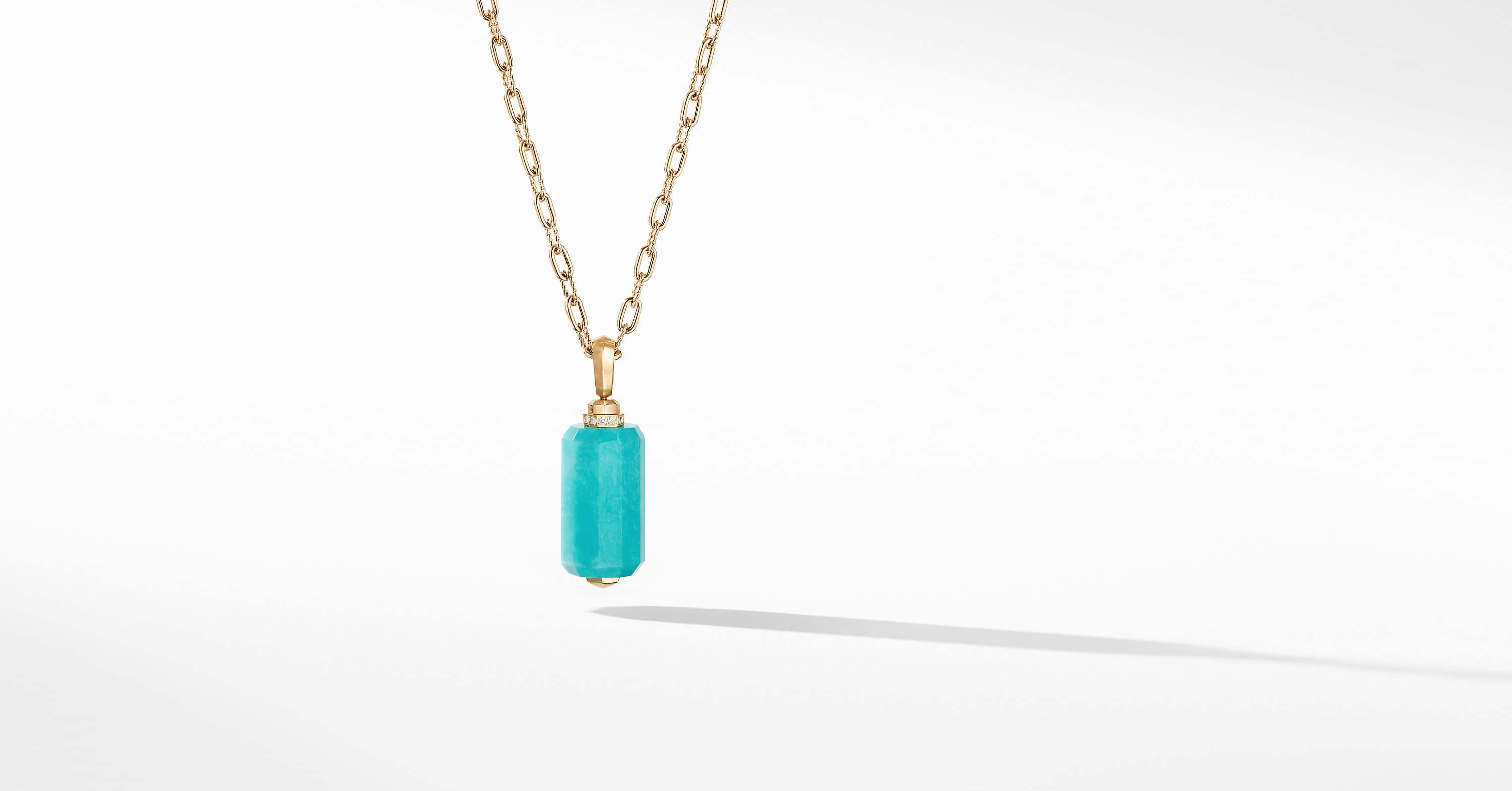 Barrels Pendant in 18K Yellow Gold with Diamonds