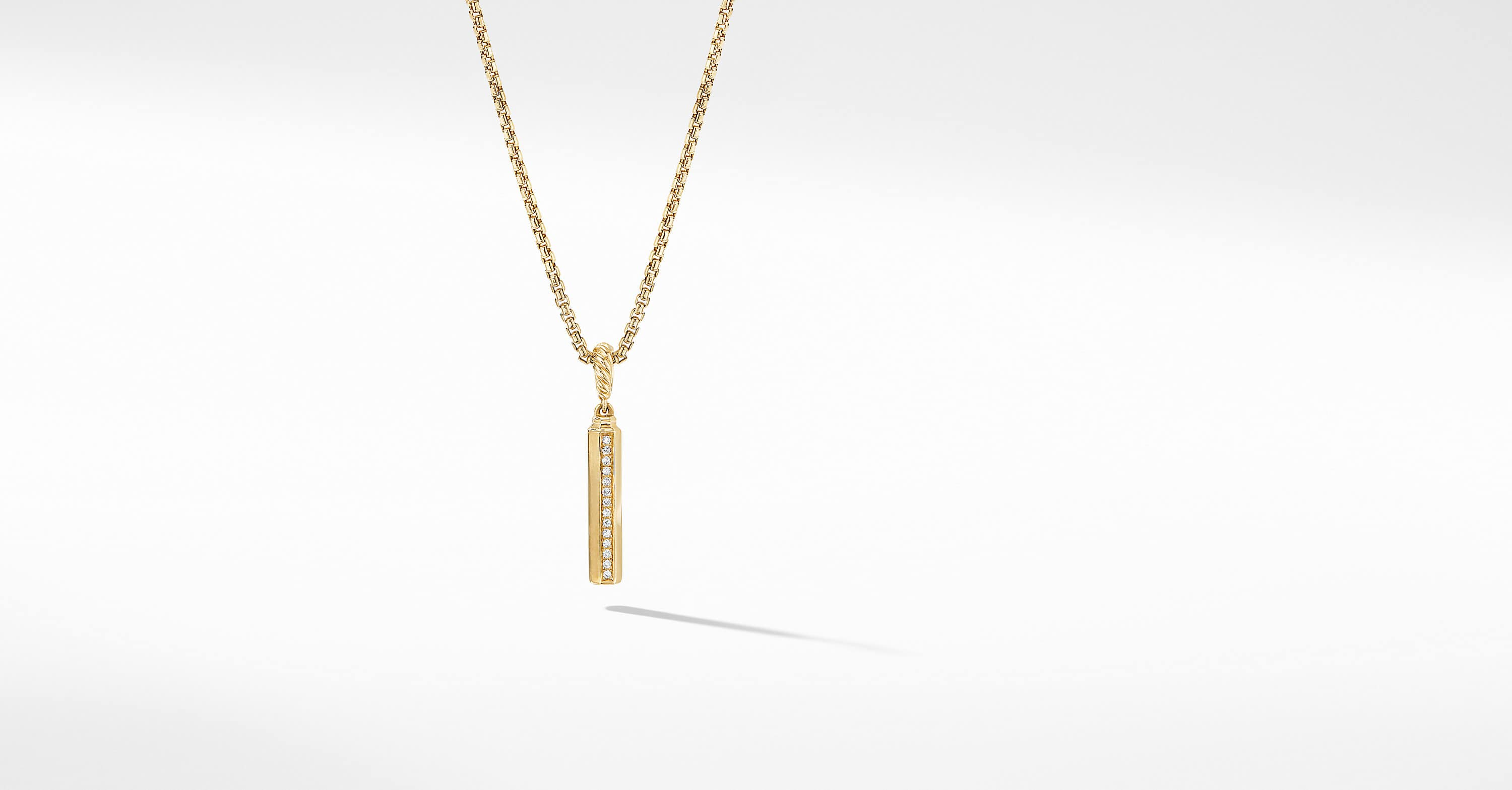 Barrels Charm Pendant in 18K Yellow Gold with Diamonds