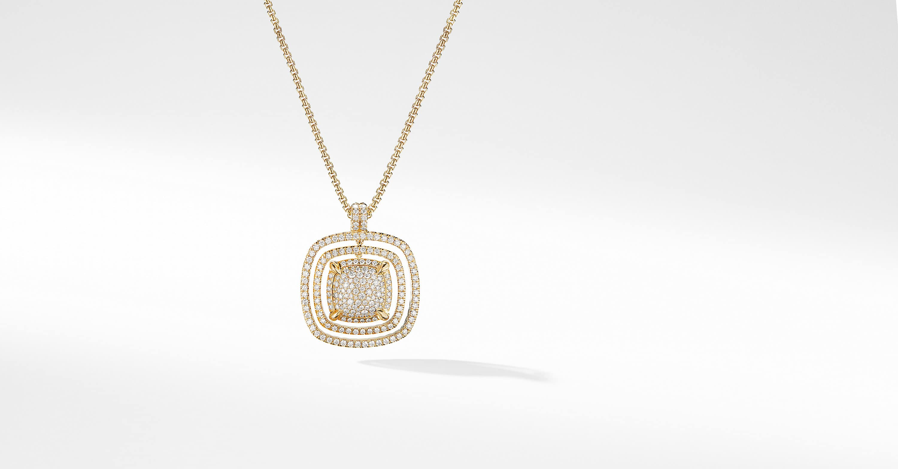 Chatelaine Full Pavé Statement Pendant in 18K Yellow Gold