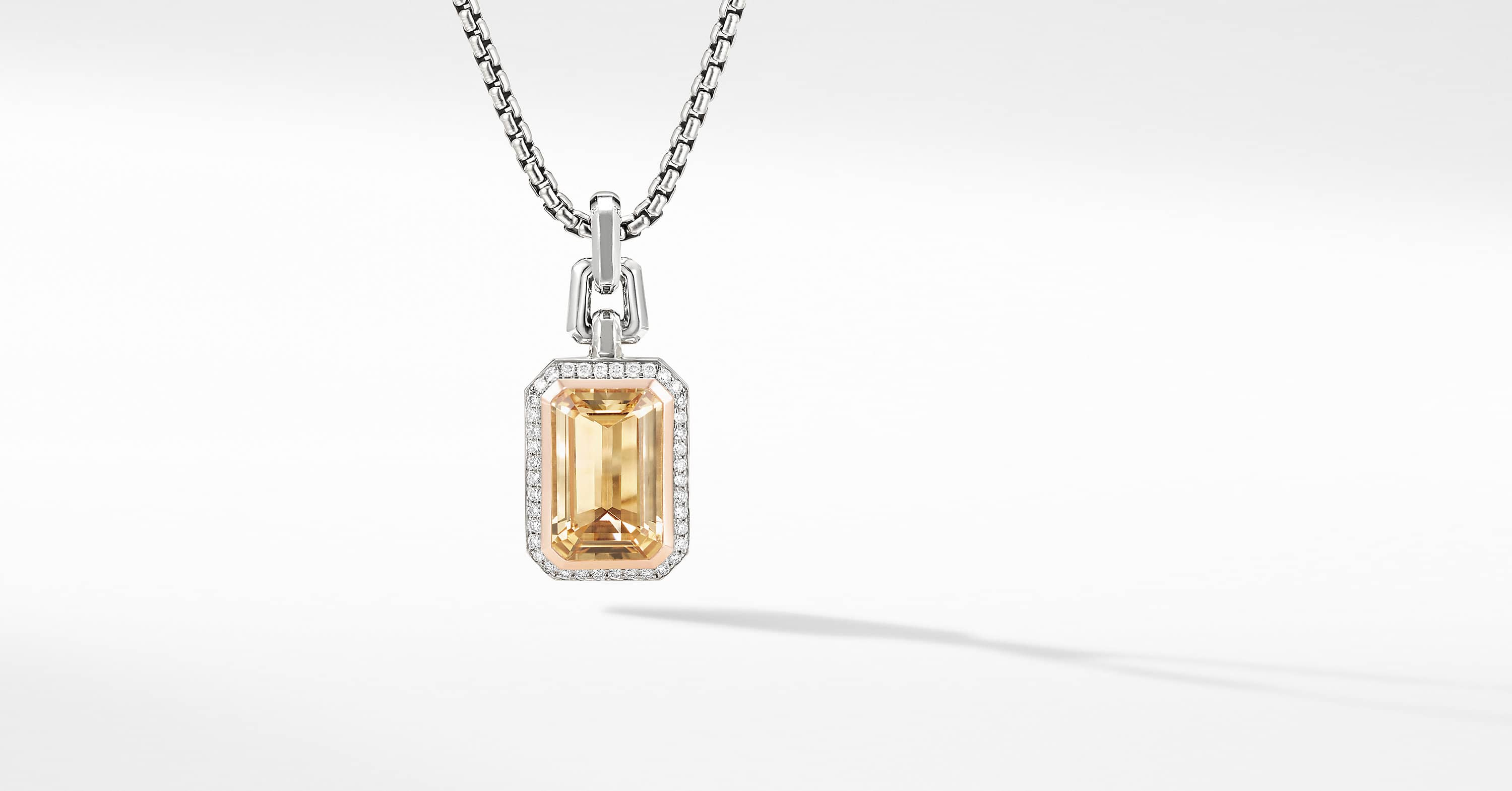 Novella Pendant with Pavé and 18K Rose Gold