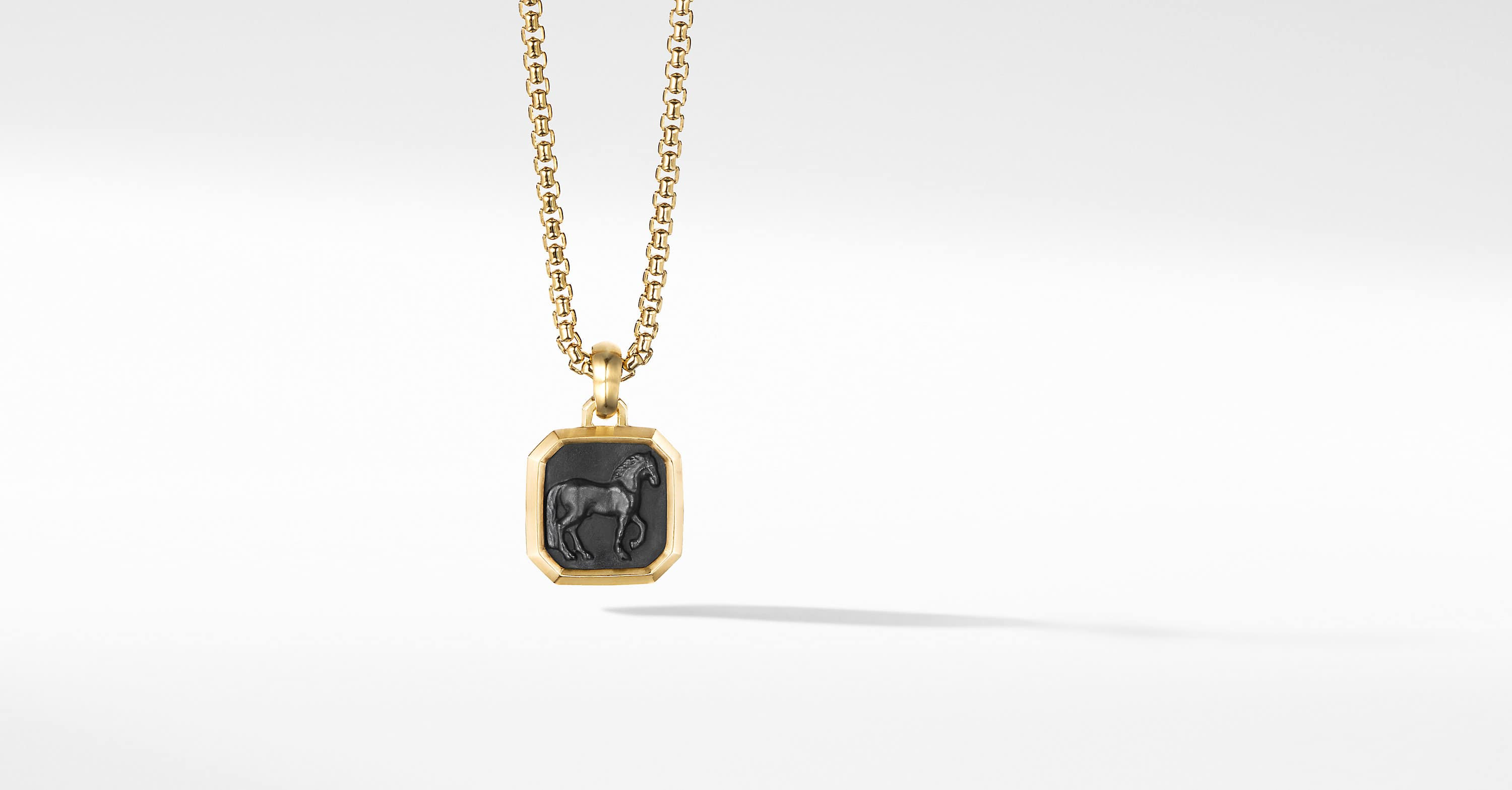 Petrvs Horse Pendant with 18K Yellow Gold