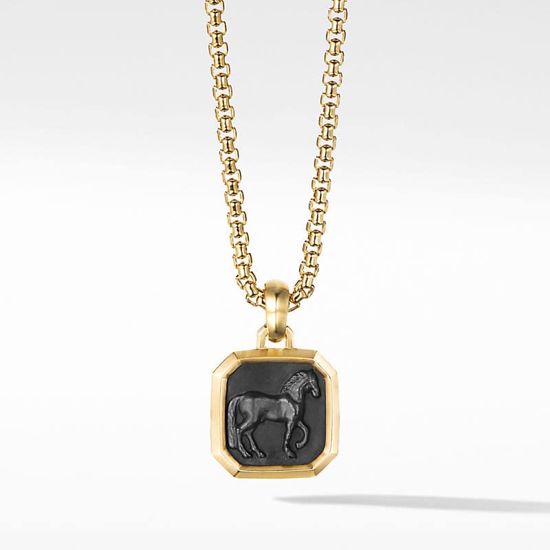 Petrvs Horse Pendant in 18K Yellow Gold