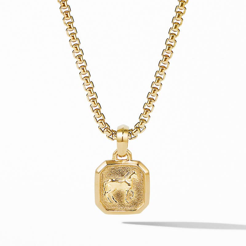 Petrvs® Small Horse Pendant in 18K Yellow Gold