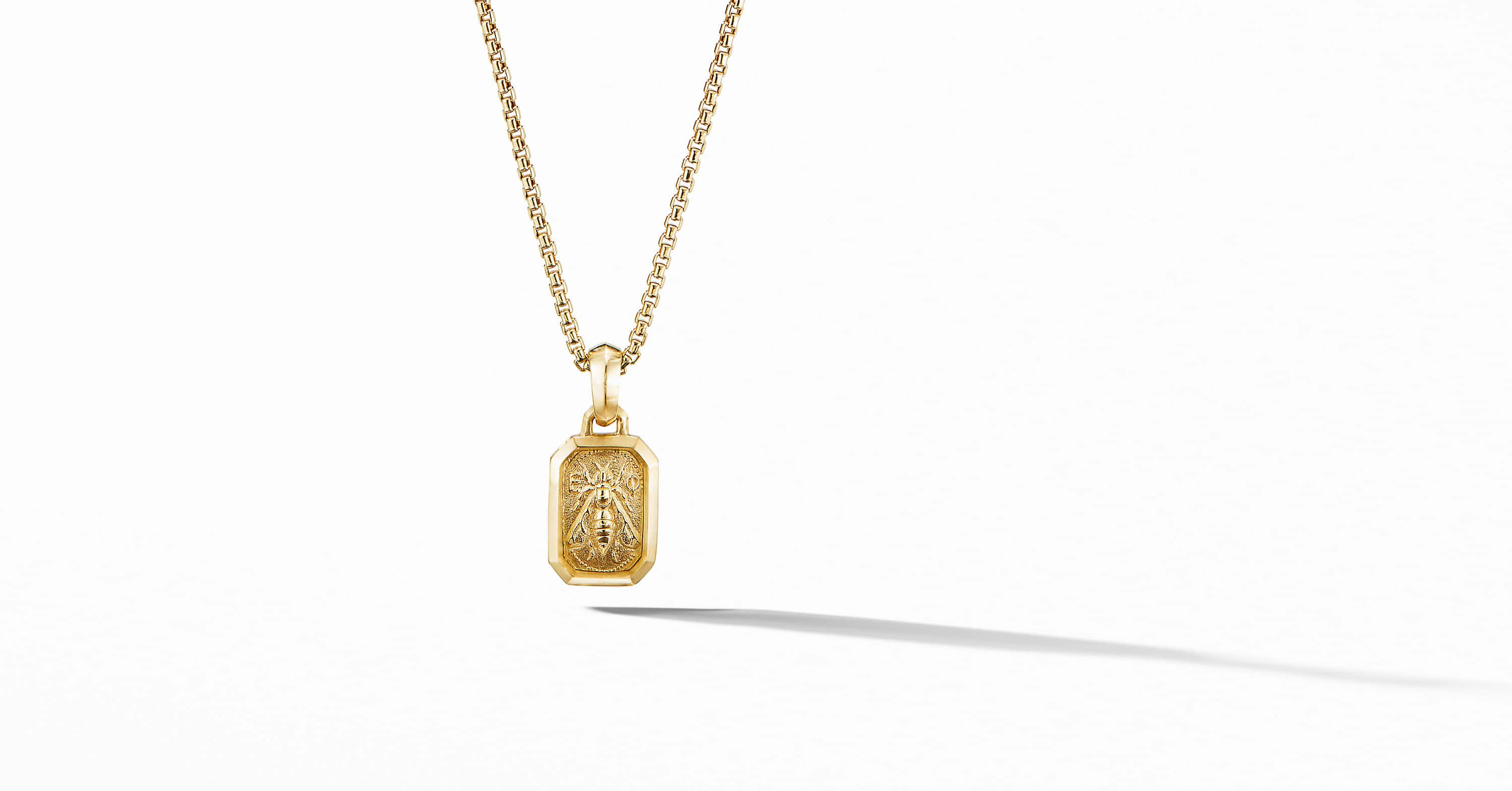 Petrvs Small Bee Pendant in 18K Yellow Gold