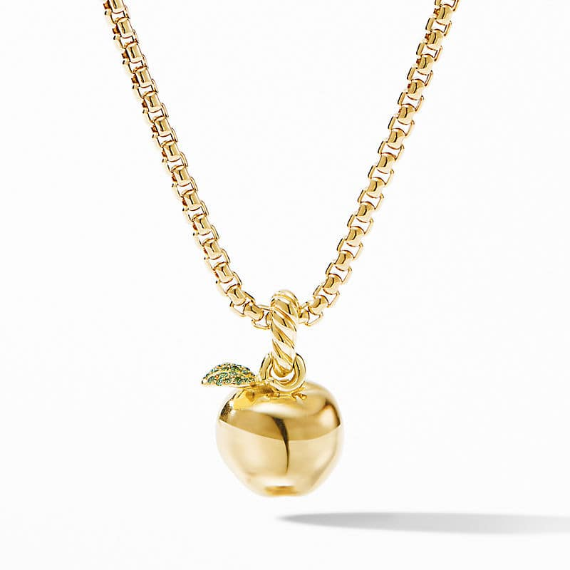 NYC Big Apple Charm in 18K Yellow Gold