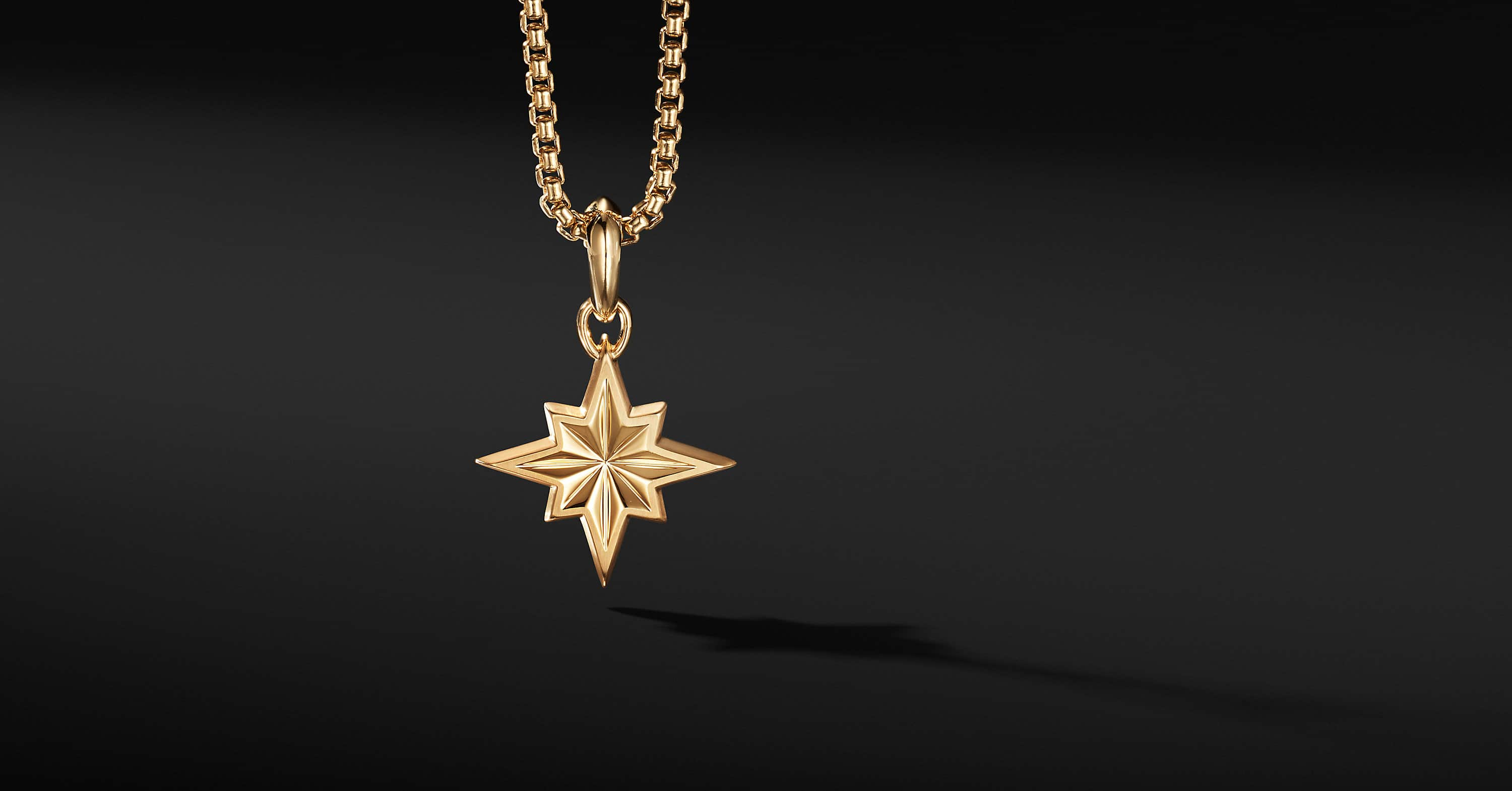 Maritime North Star Amulet in 18K Yellow Gold