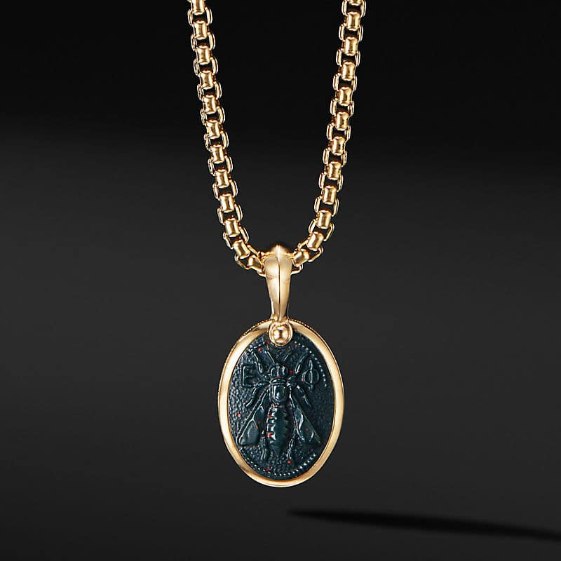 Petrvs® Bee Amulet in 18K Yellow Gold with