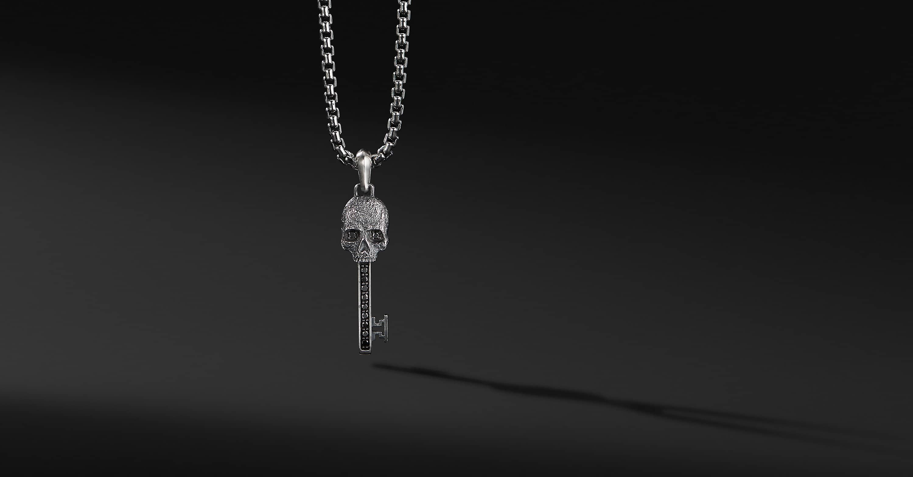 Skull Pendant with Diamonds