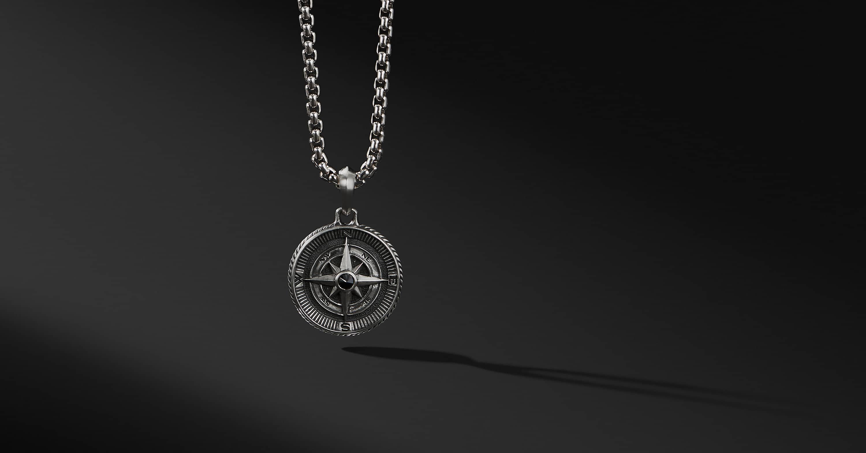 Maritime Compass Amulet with Diamonds