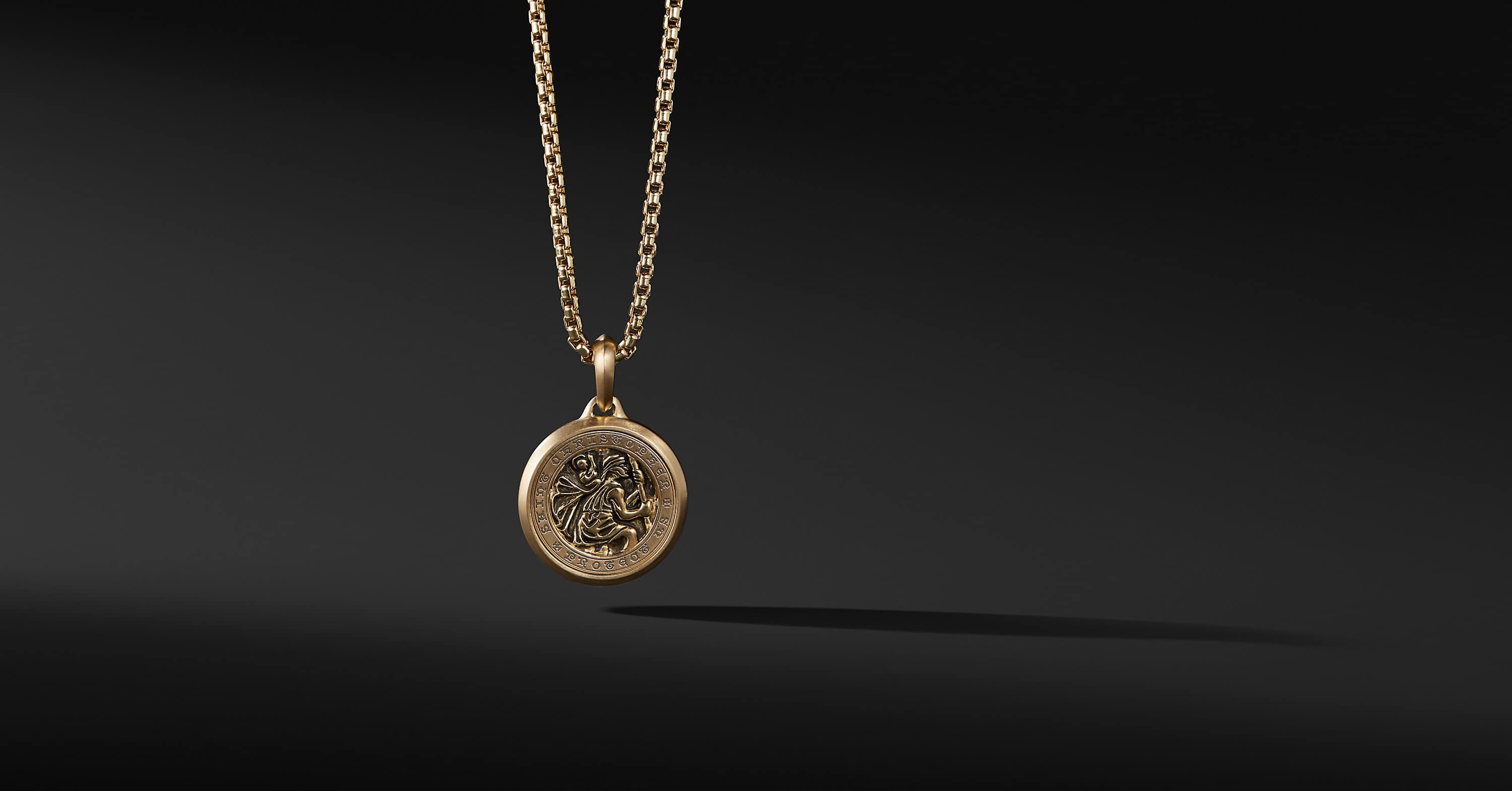 St. Christopher Amulet in 18K Gold