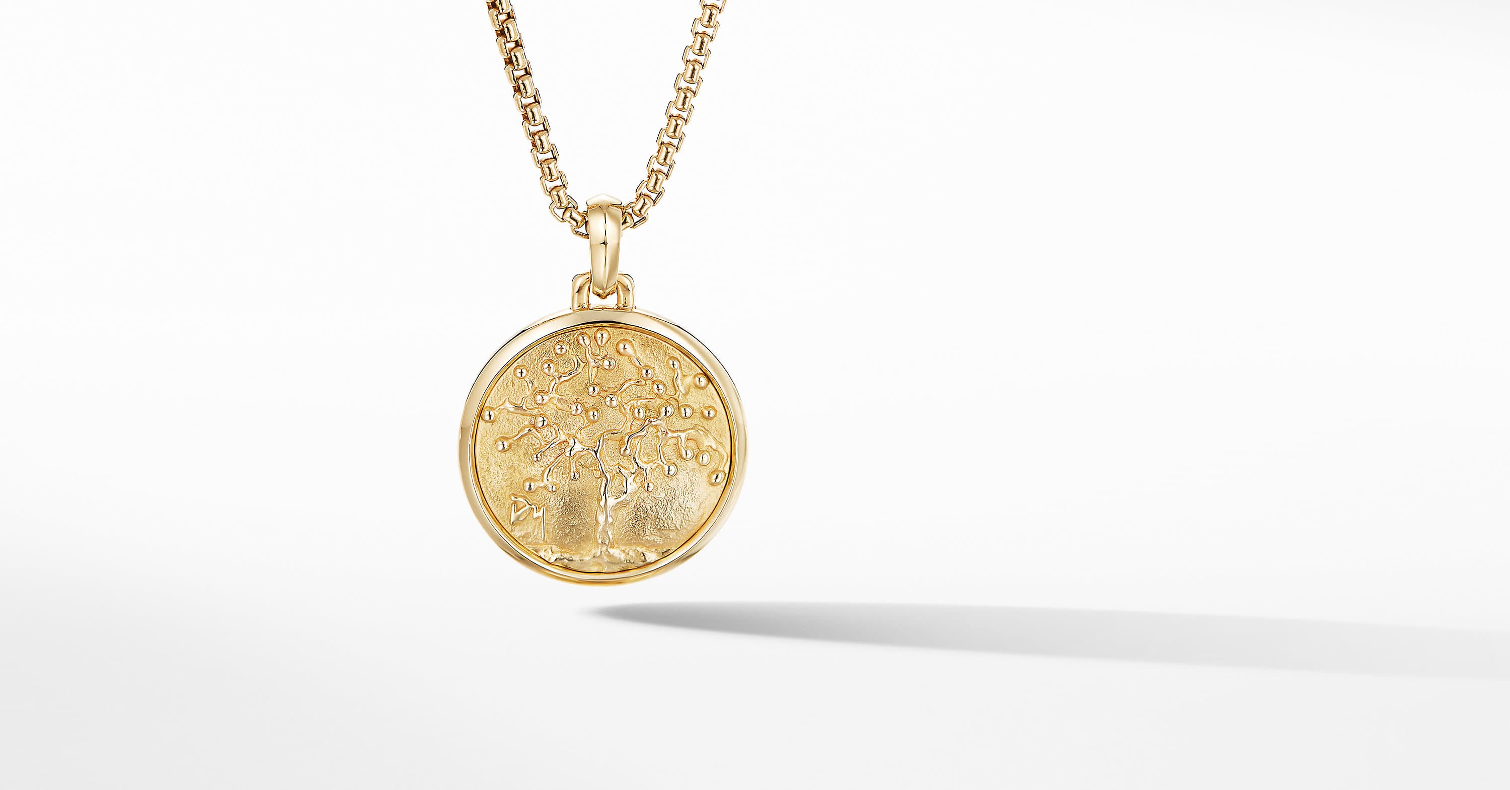 Petrvs Tree of Life Pendant in 18K Yellow Gold