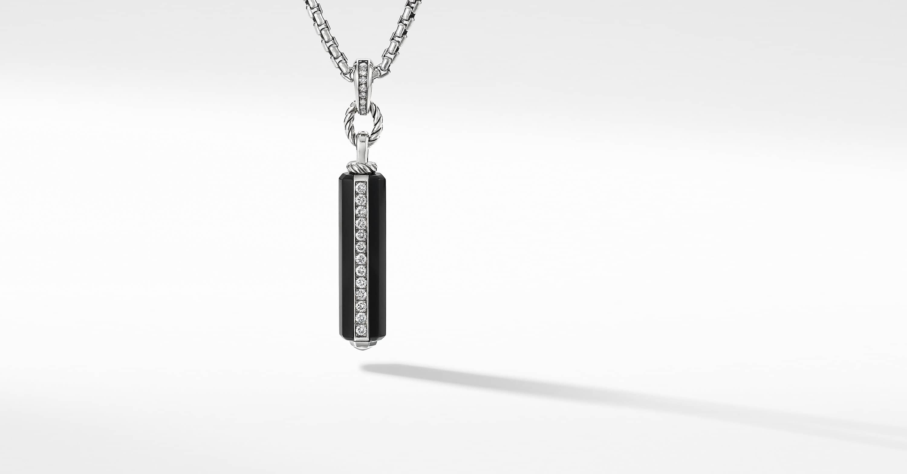 Lexington Small Barrel Pendant with Diamonds