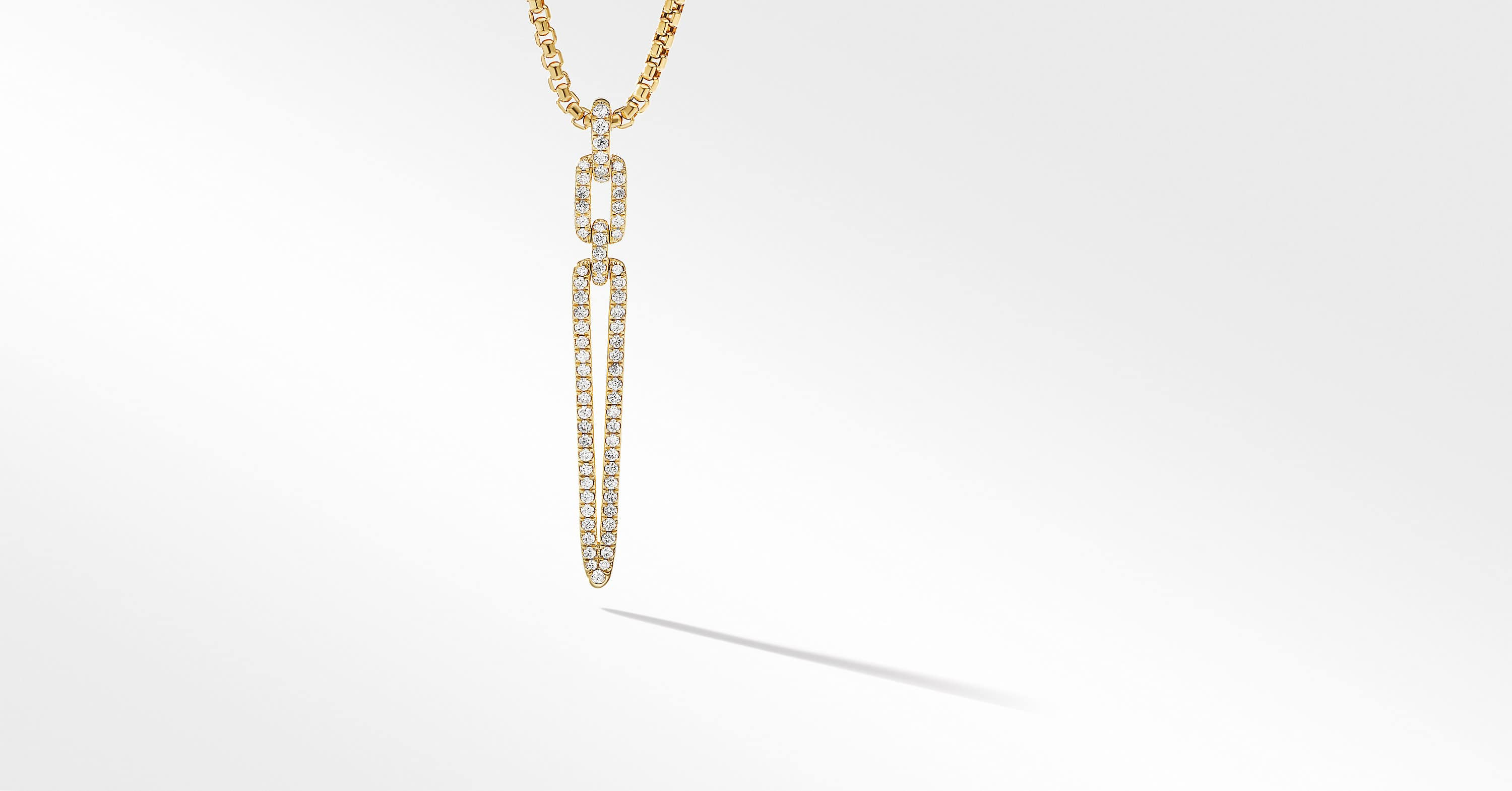 Stax Elongated Pendant in 18K Yellow Gold with Diamonds