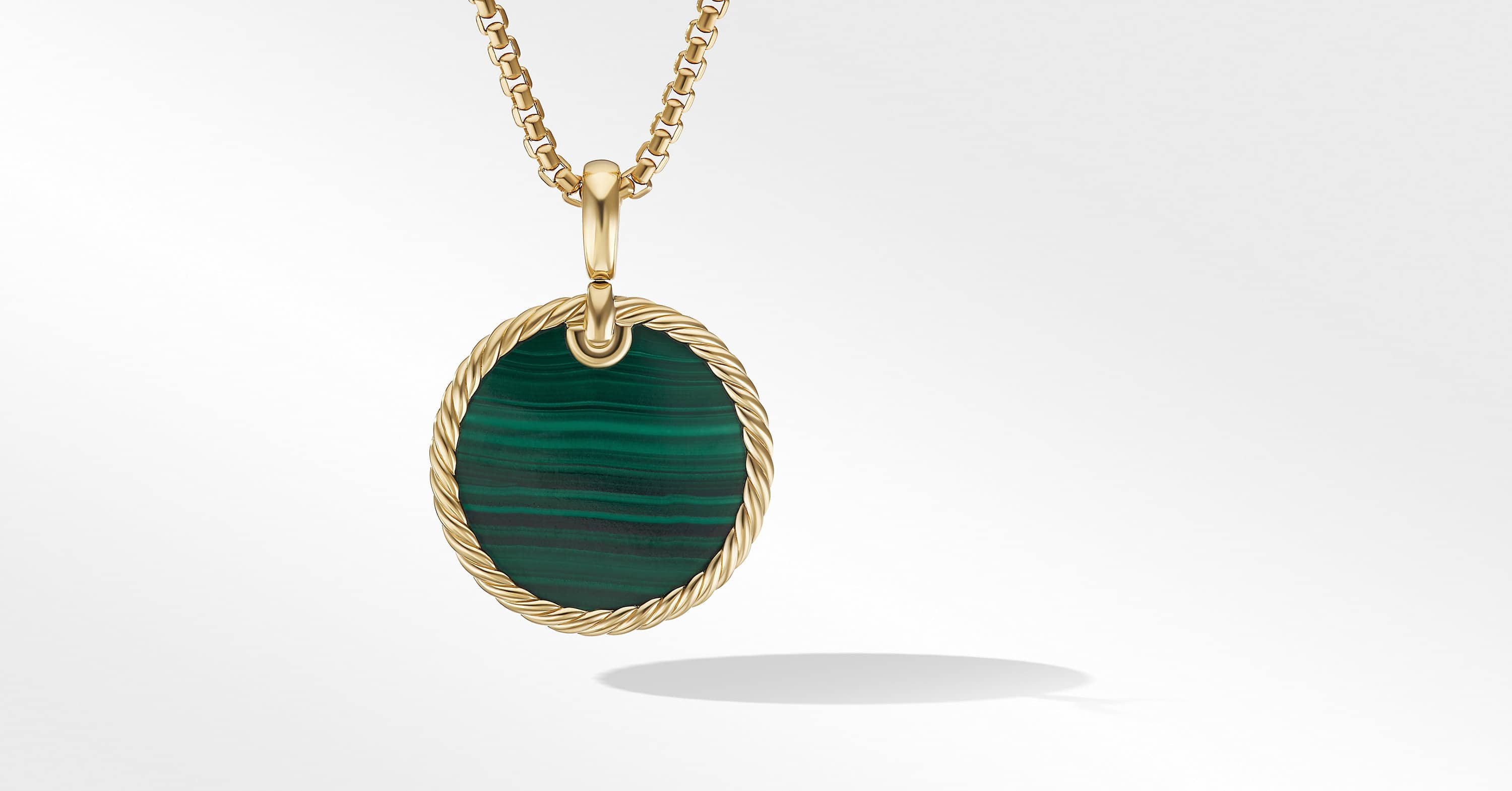 DY Elements Disc Pendant in 18K Yellow Gold, 24mm