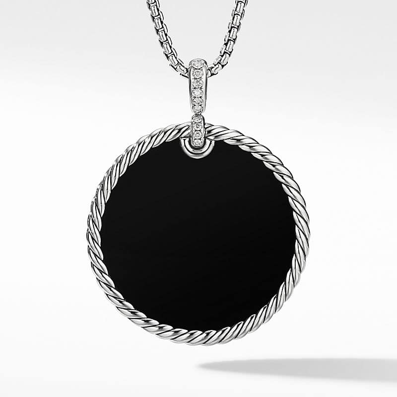DY Elements® Disc Pendant with Pavé Diamonds and
