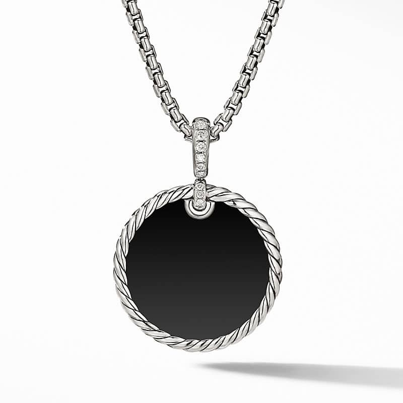 DY Elements Disc Pendant with Diamonds, 24mm